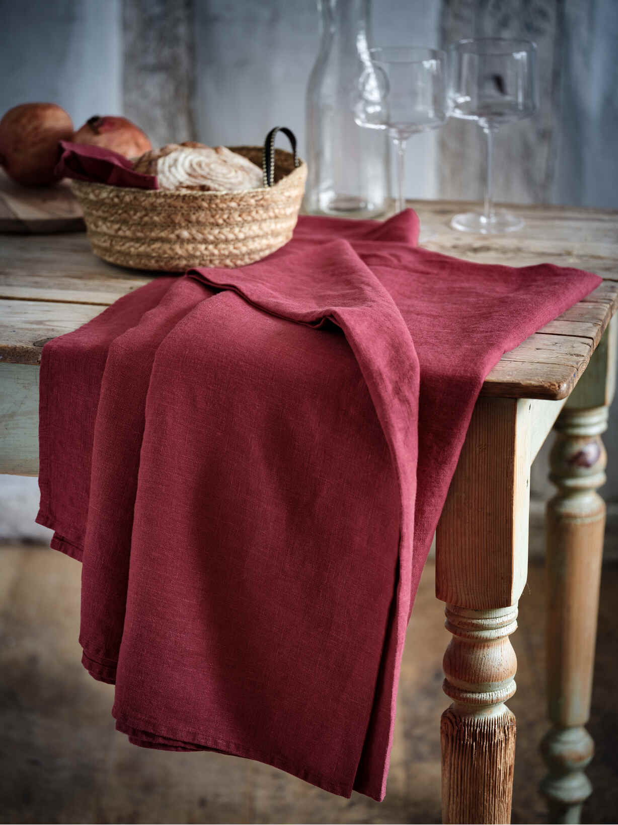 Nordic House Mulberry Linen Tablecloths