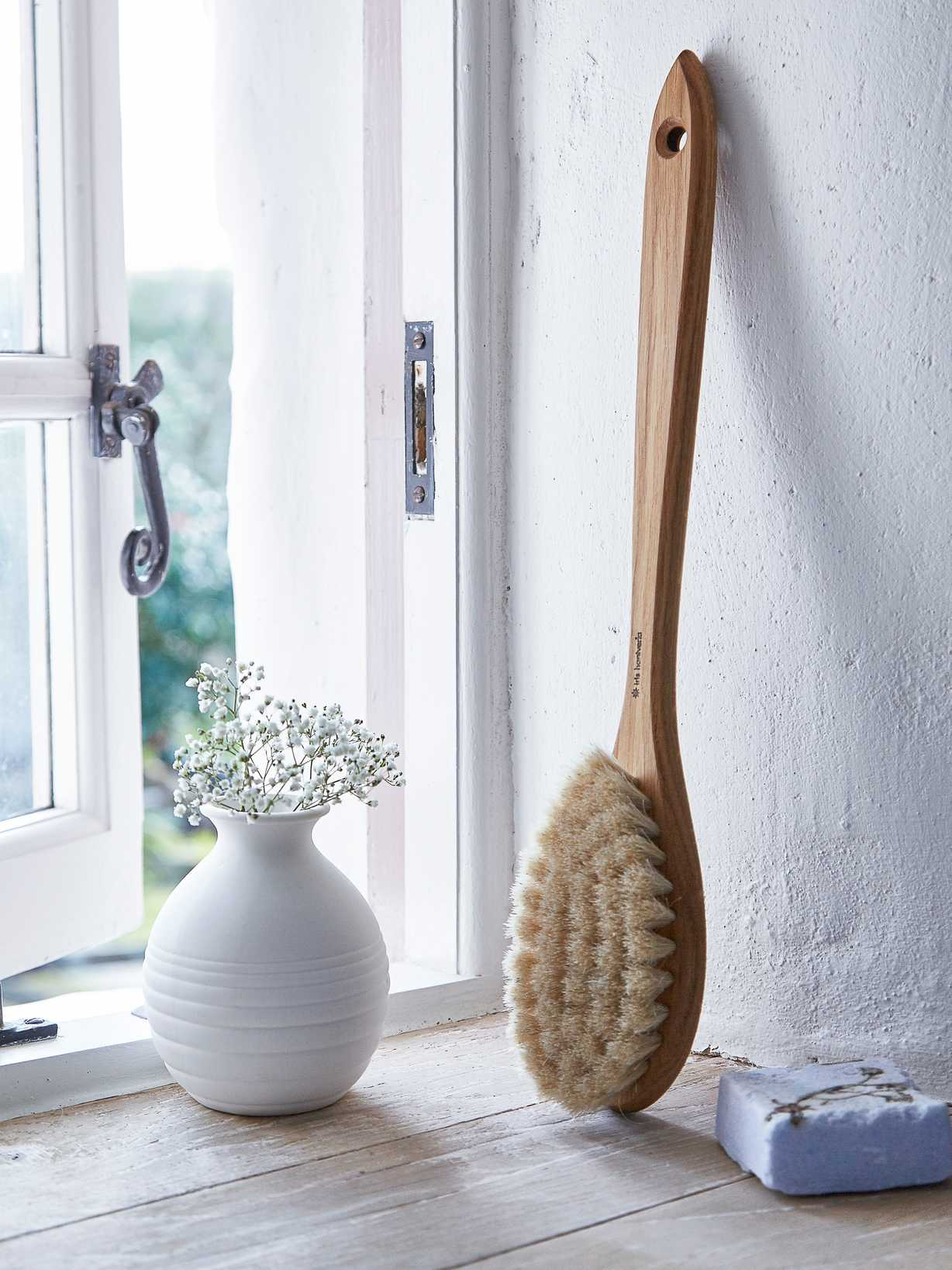 Nordic House Hand-Crafted Oak Bath Brush