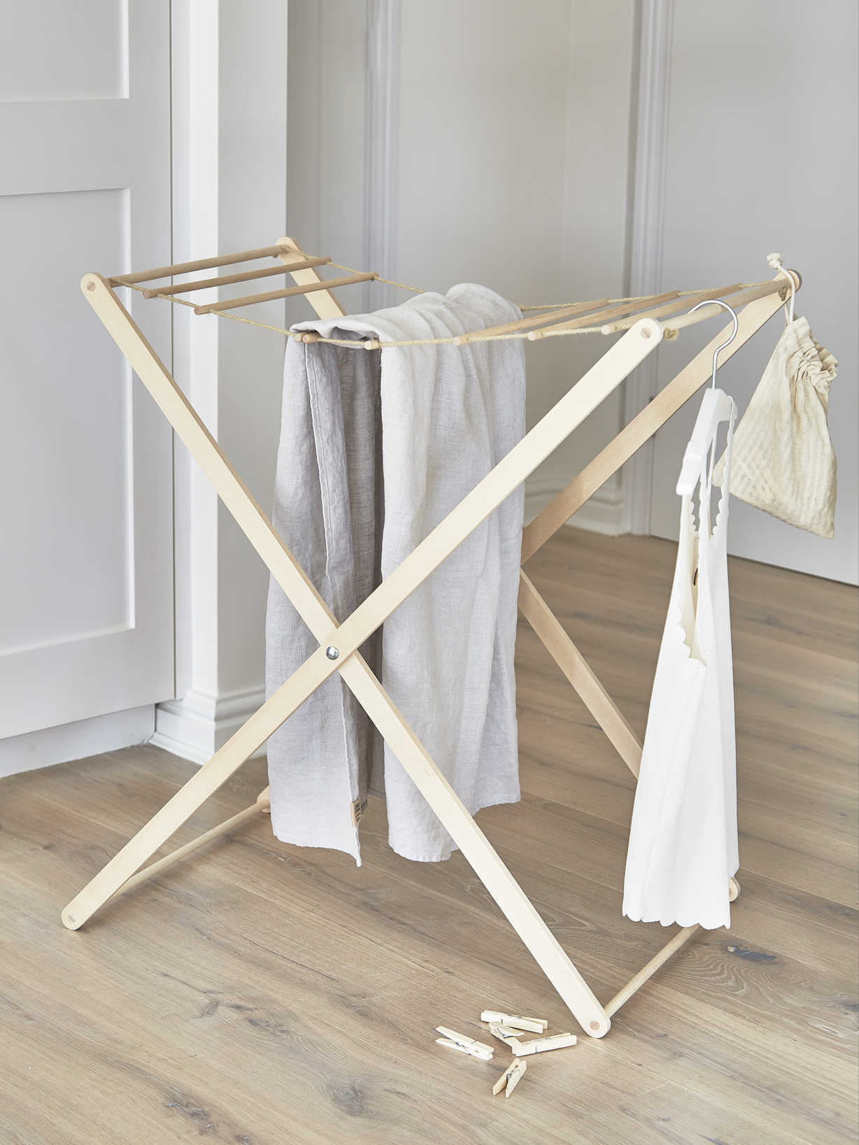 Nordic House Birch Wood Drying Rack