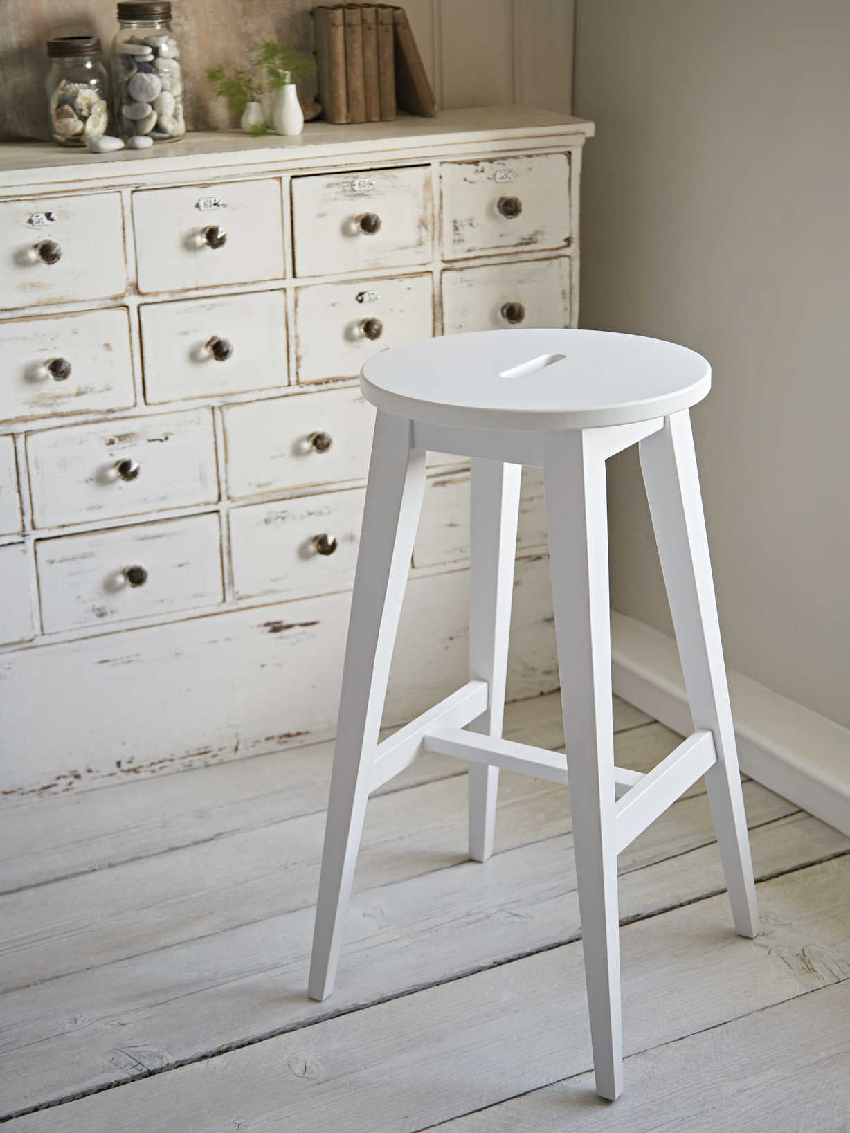 Nordic House Olsson Bar Stool - White