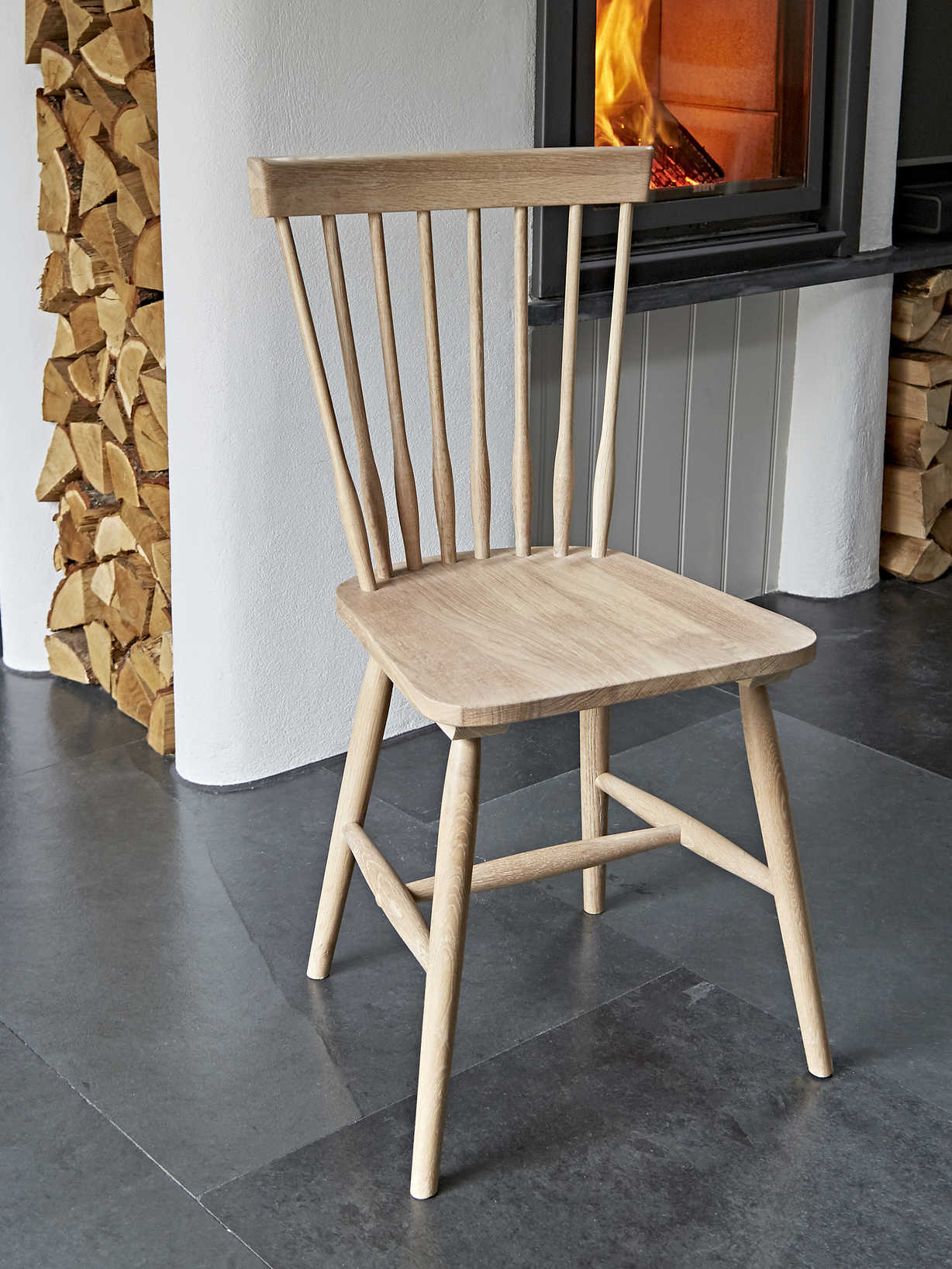 Nordic House Blom Dining Chairs - Oak