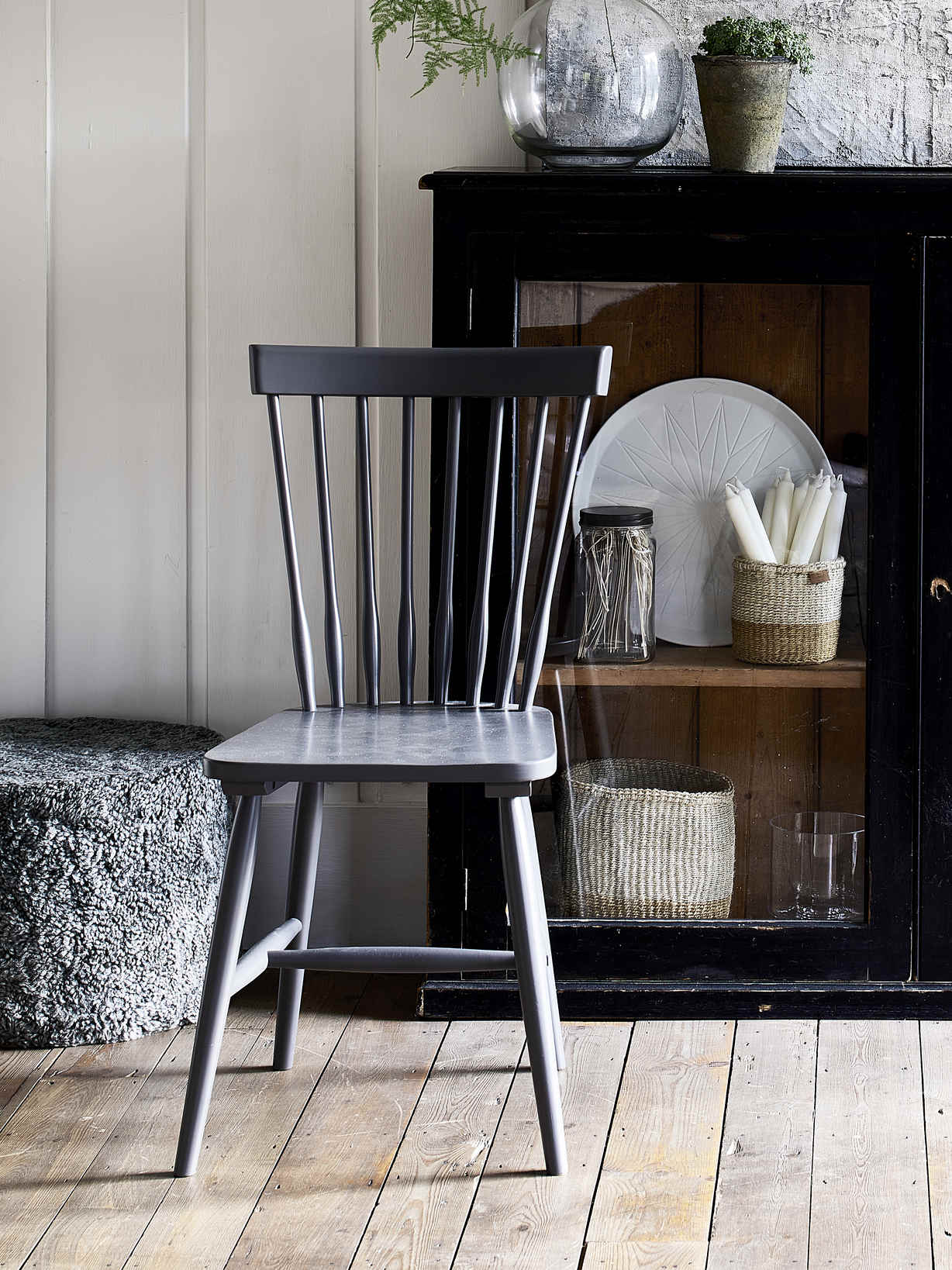Nordic House Blom Dining Chairs - Grey