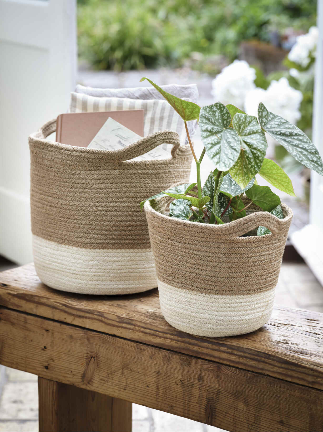 Nordic House White Ombre Baskets