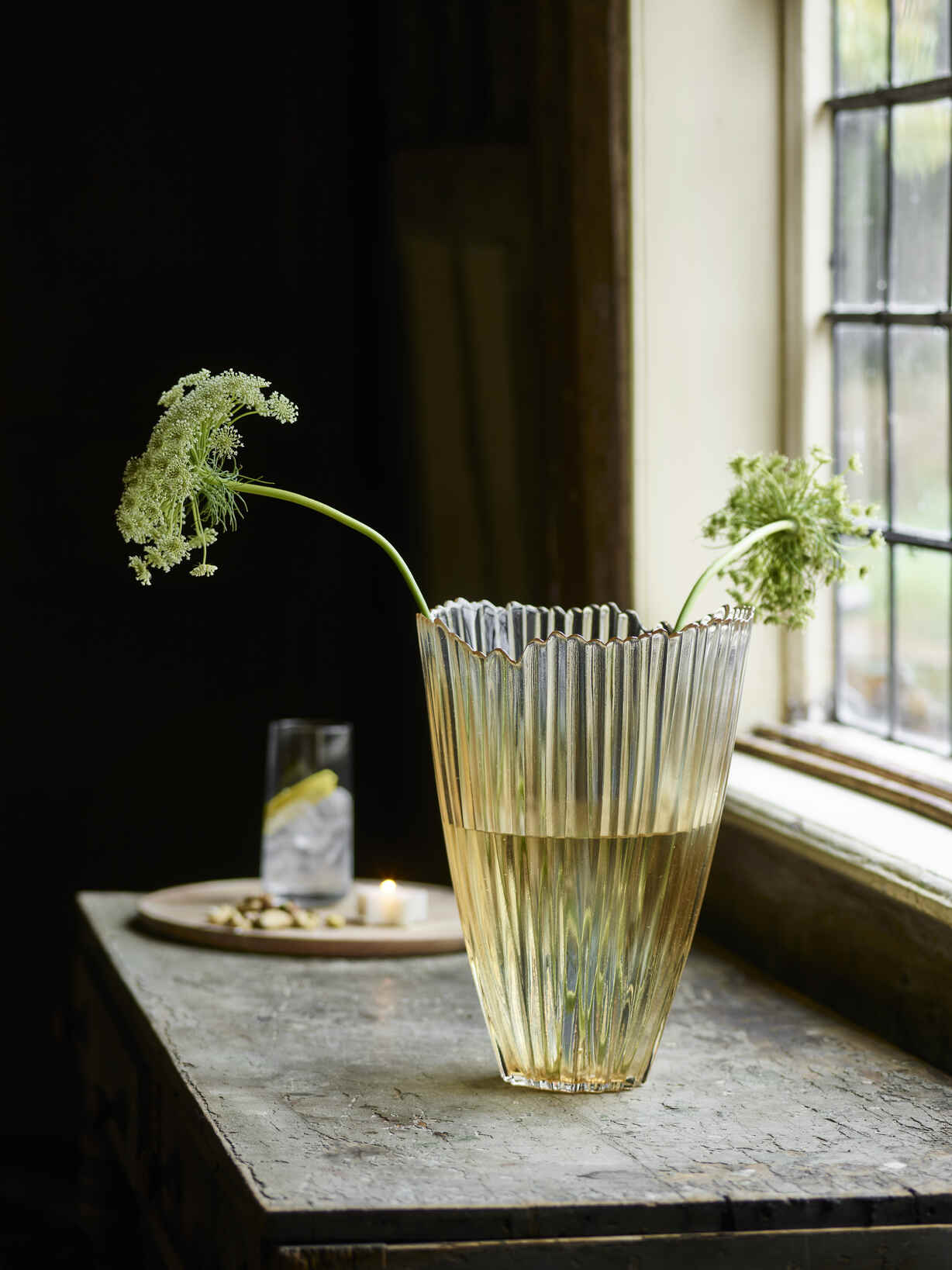 Nordic House Gold Ombre Glass Vase
