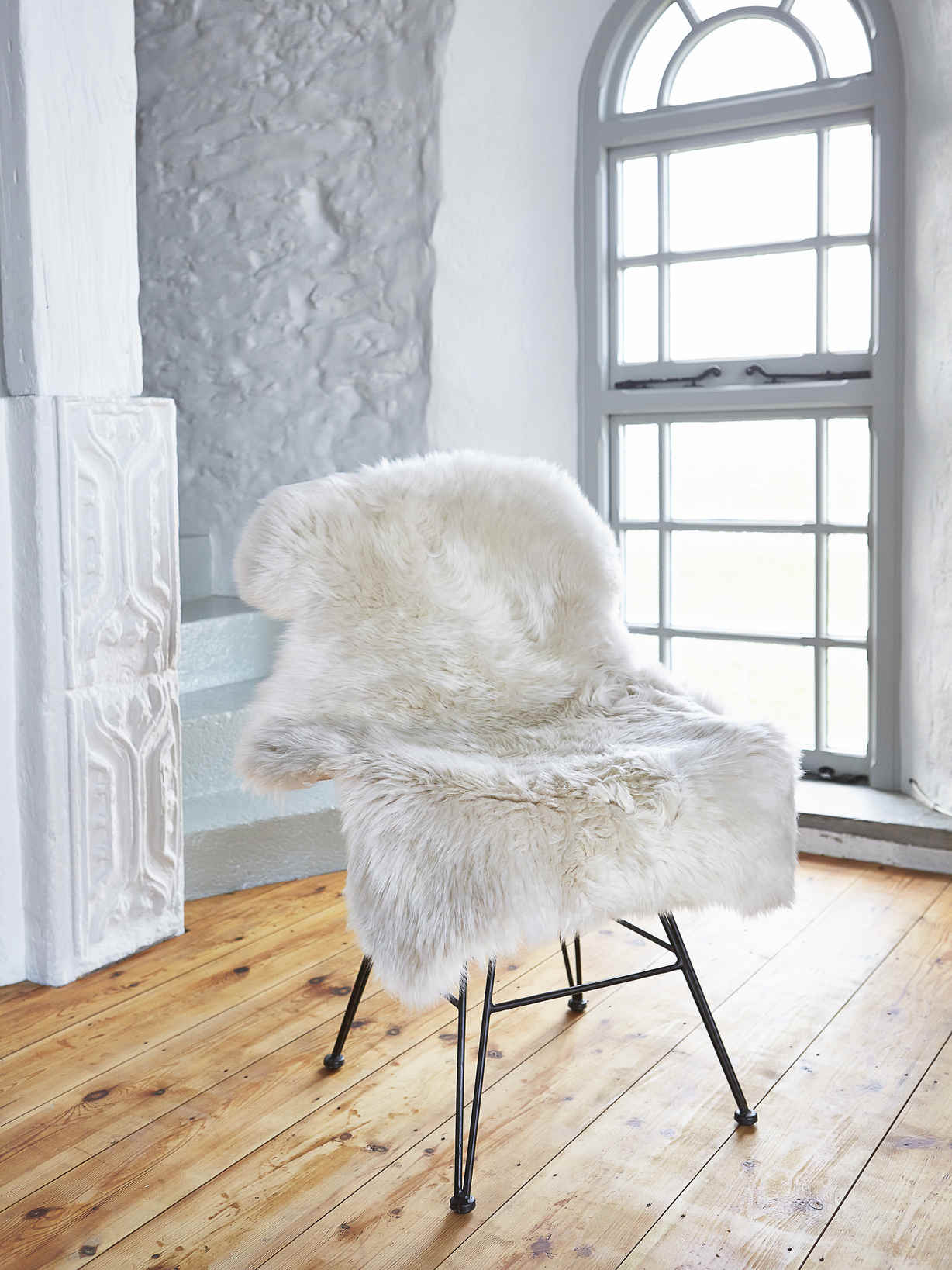 Nordic House Luxurious Sheepskin Rug - Champagne