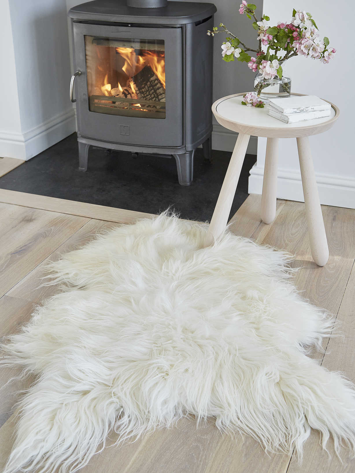 Nordic House Icelandic Sheepskin Rug - Off White