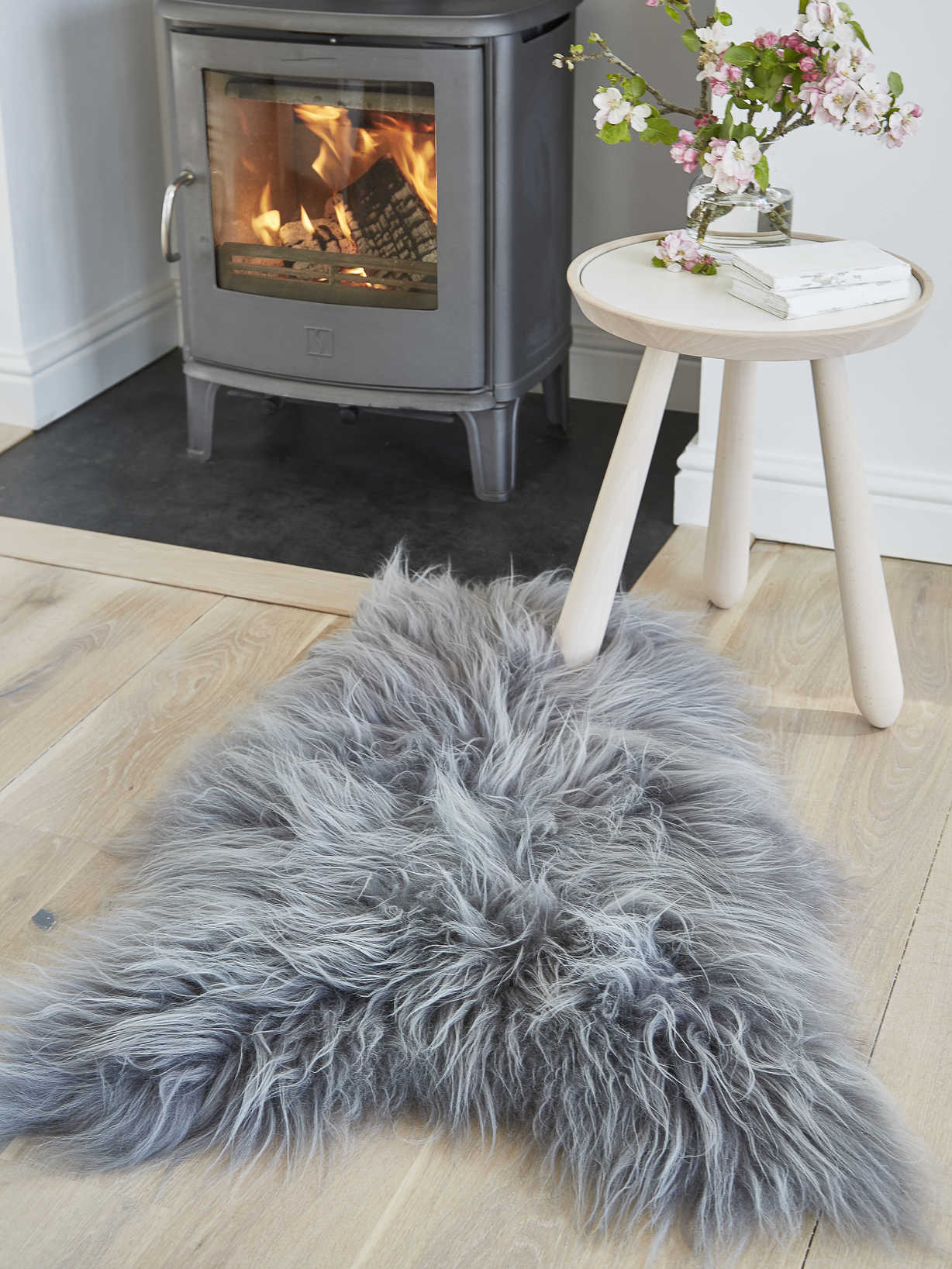Nordic House Icelandic Sheepskin Rug - Soft Grey
