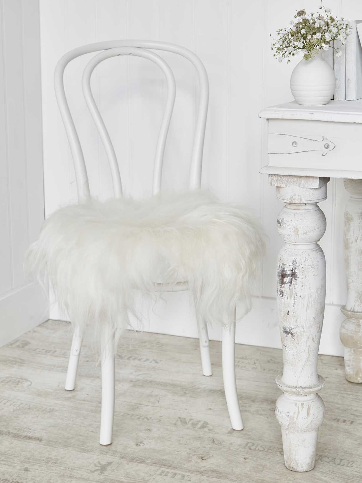 Nordic House Icelandic Sheepskin Seat Cover - Off White