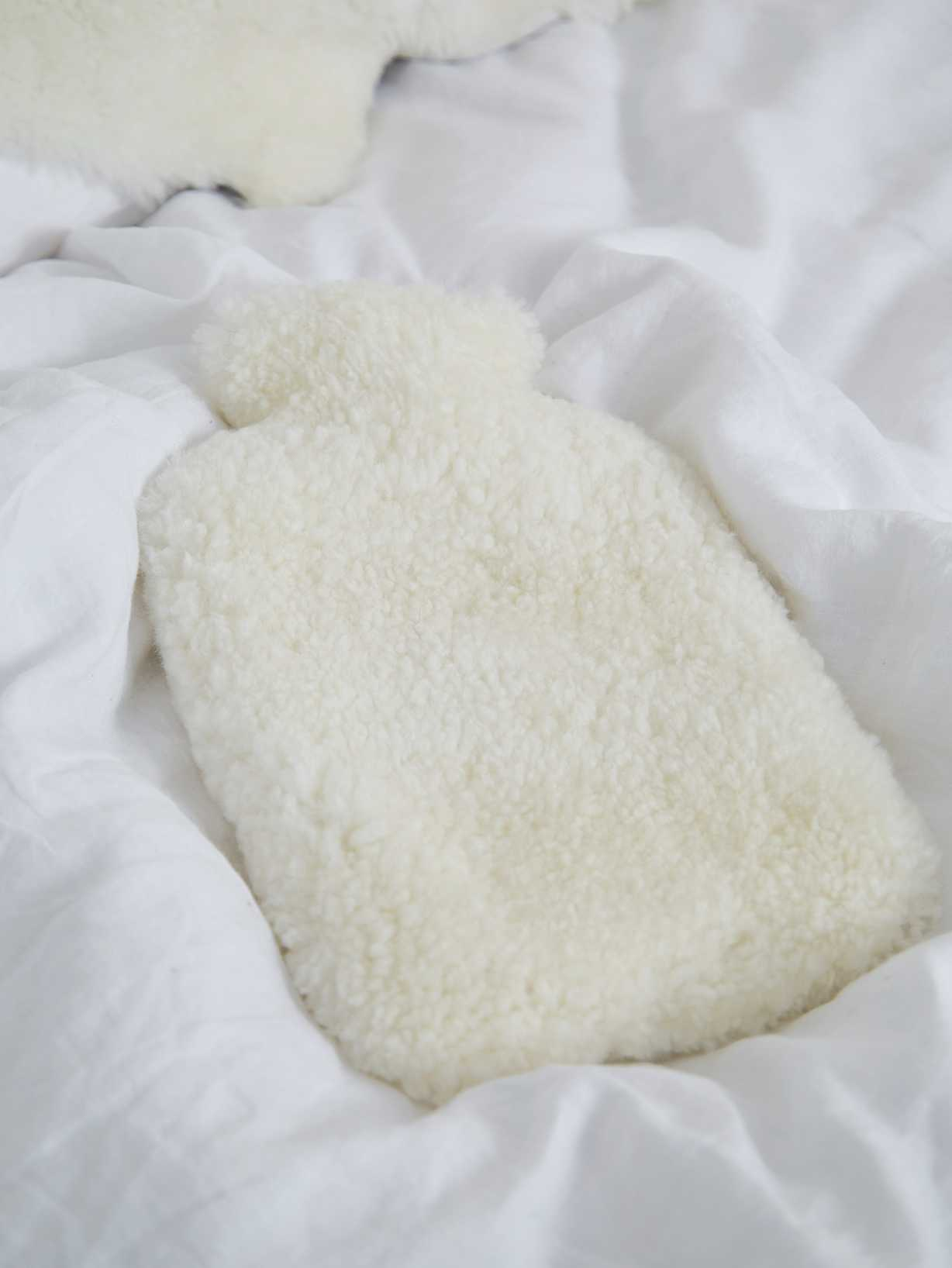 Nordic House Luxurious Hot Water Bottle - Ivory