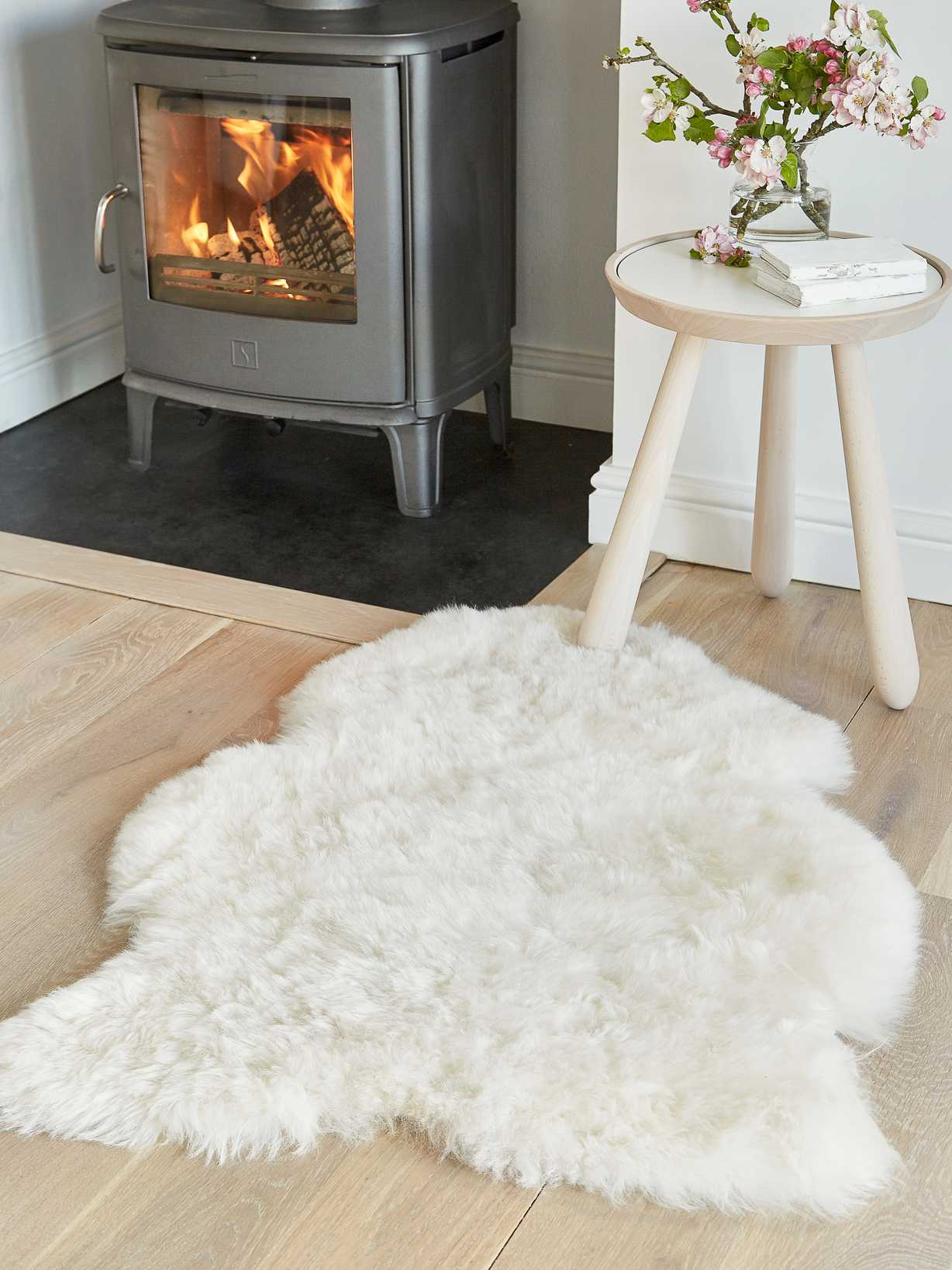 Nordic House Shorthair Icelandic Sheepskin Rug - Off White