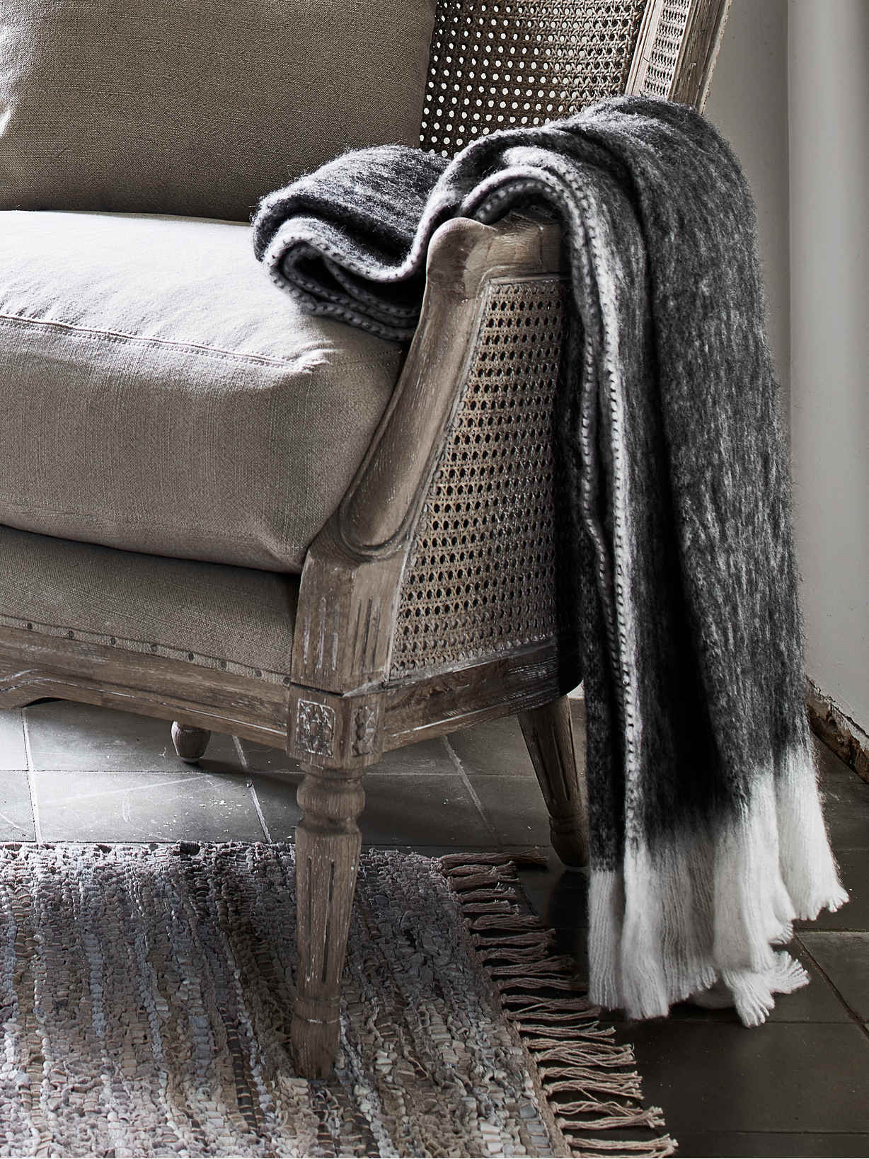 Nordic House Supersoft Mohair Mix Throw