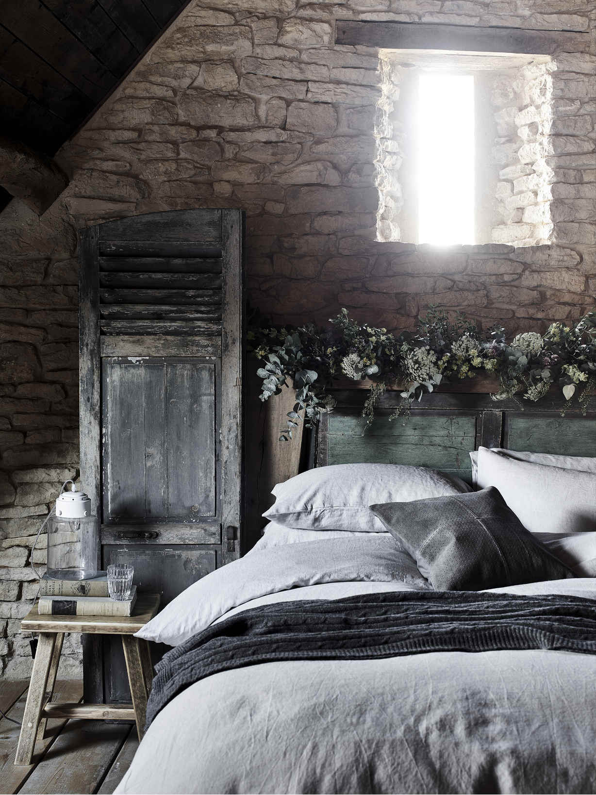 Nordic House Pale Grey Linen Bedding
