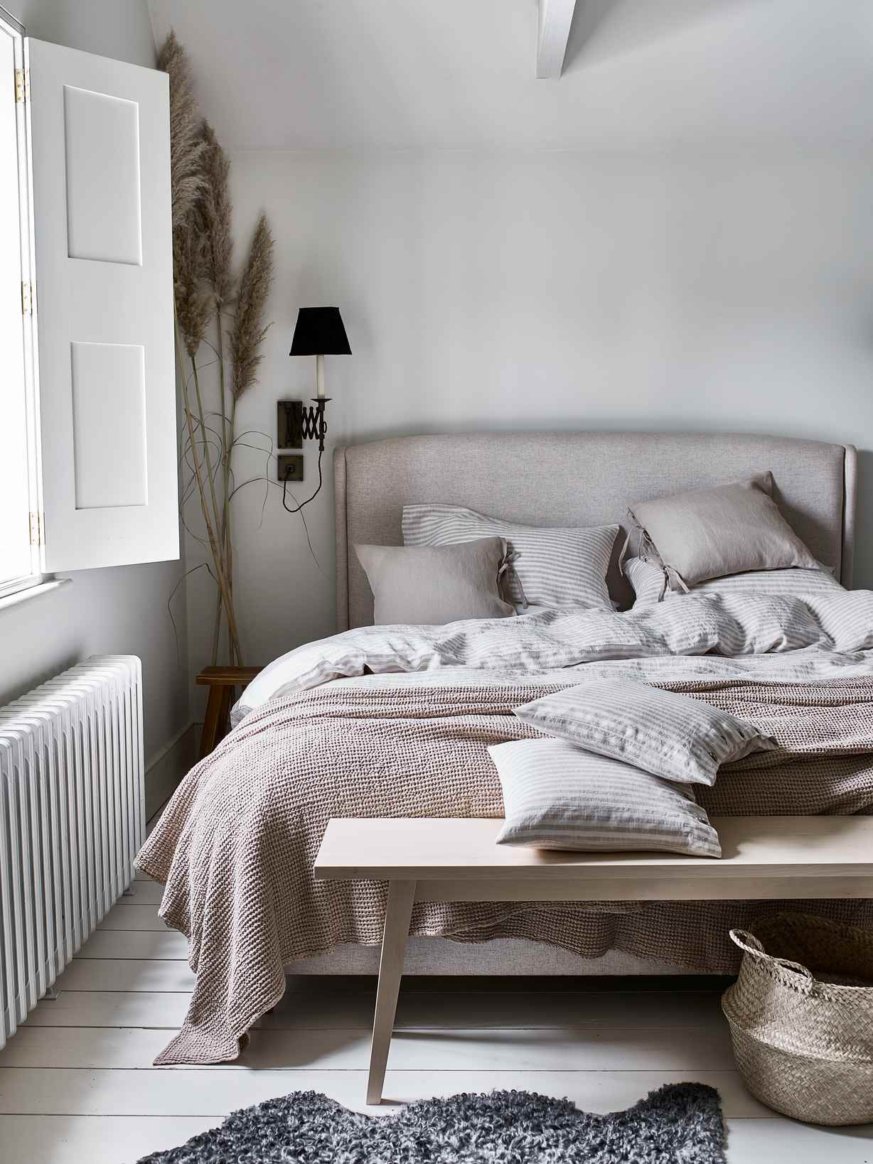 Nordic House Natural Stripe Linen Bedding