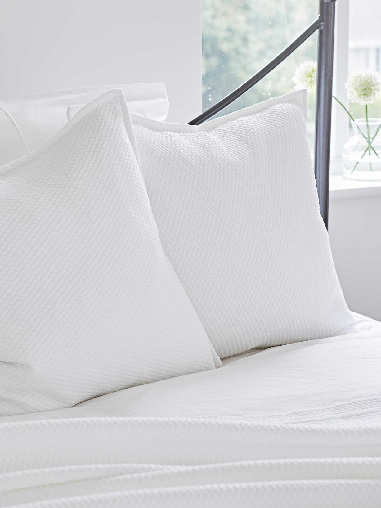 Nordic House Quilted Cushion - Diamond White