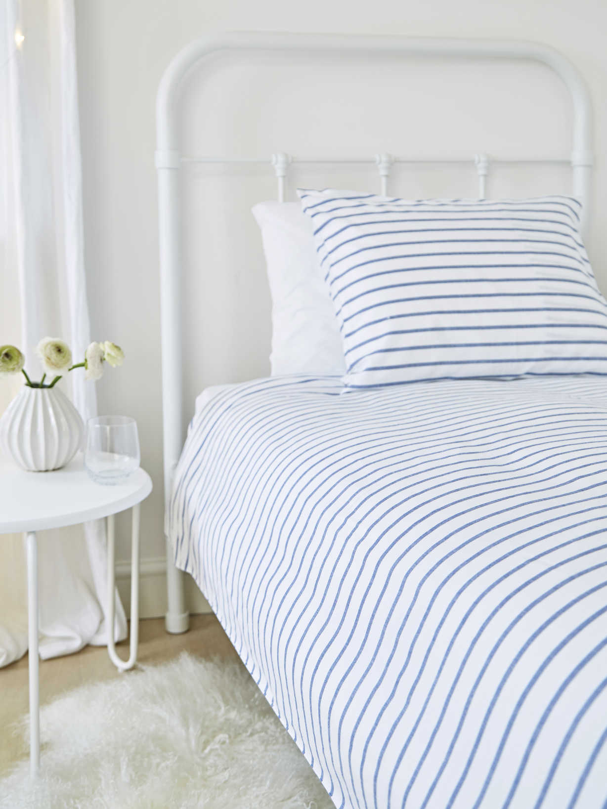 Nordic House Bed Set Yarn Dyed - Dala Blue