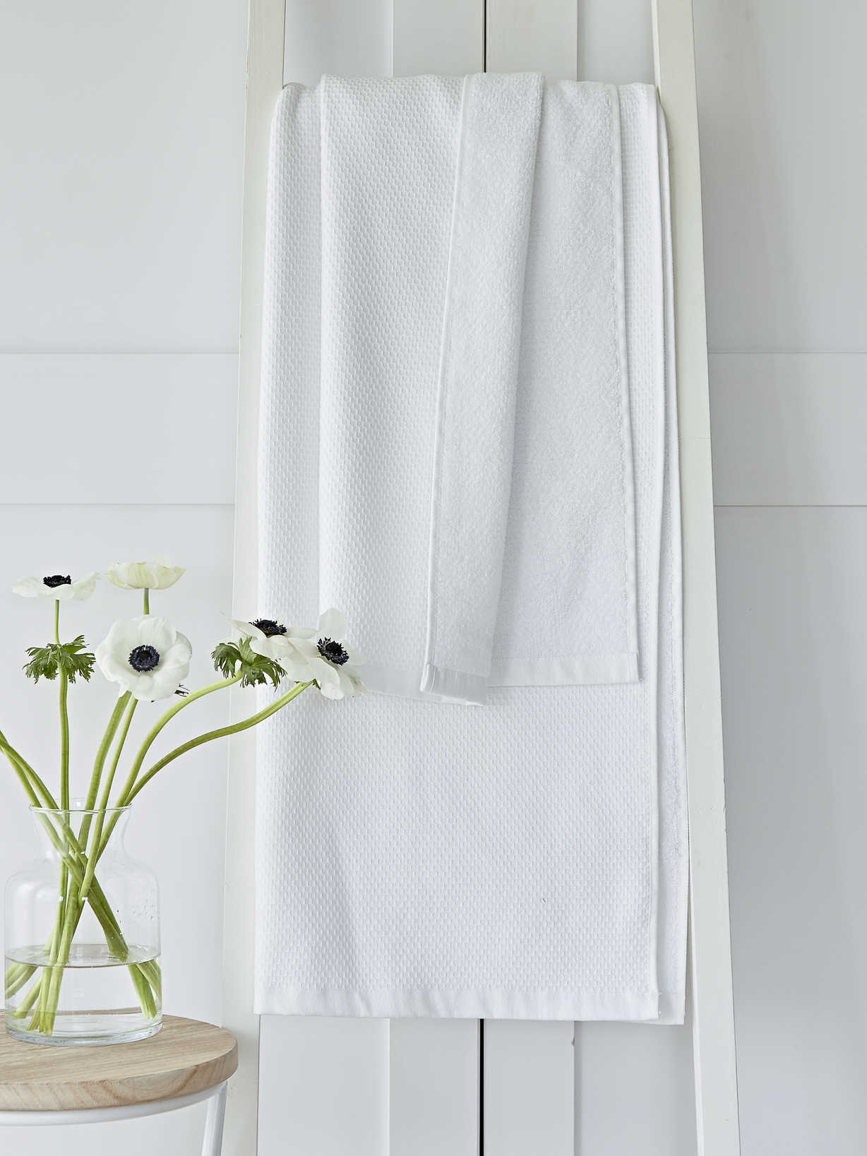 Nordic House White Waffle Terry Towels