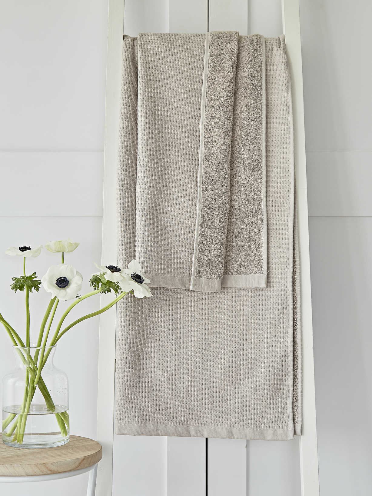 Nordic House Beige Waffle Terry Towels
