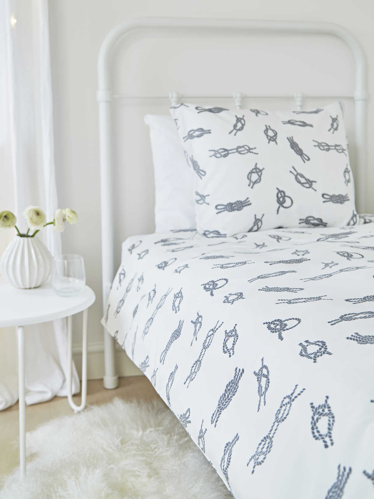 Nordic House Bed Set Nautical Knots - Grey