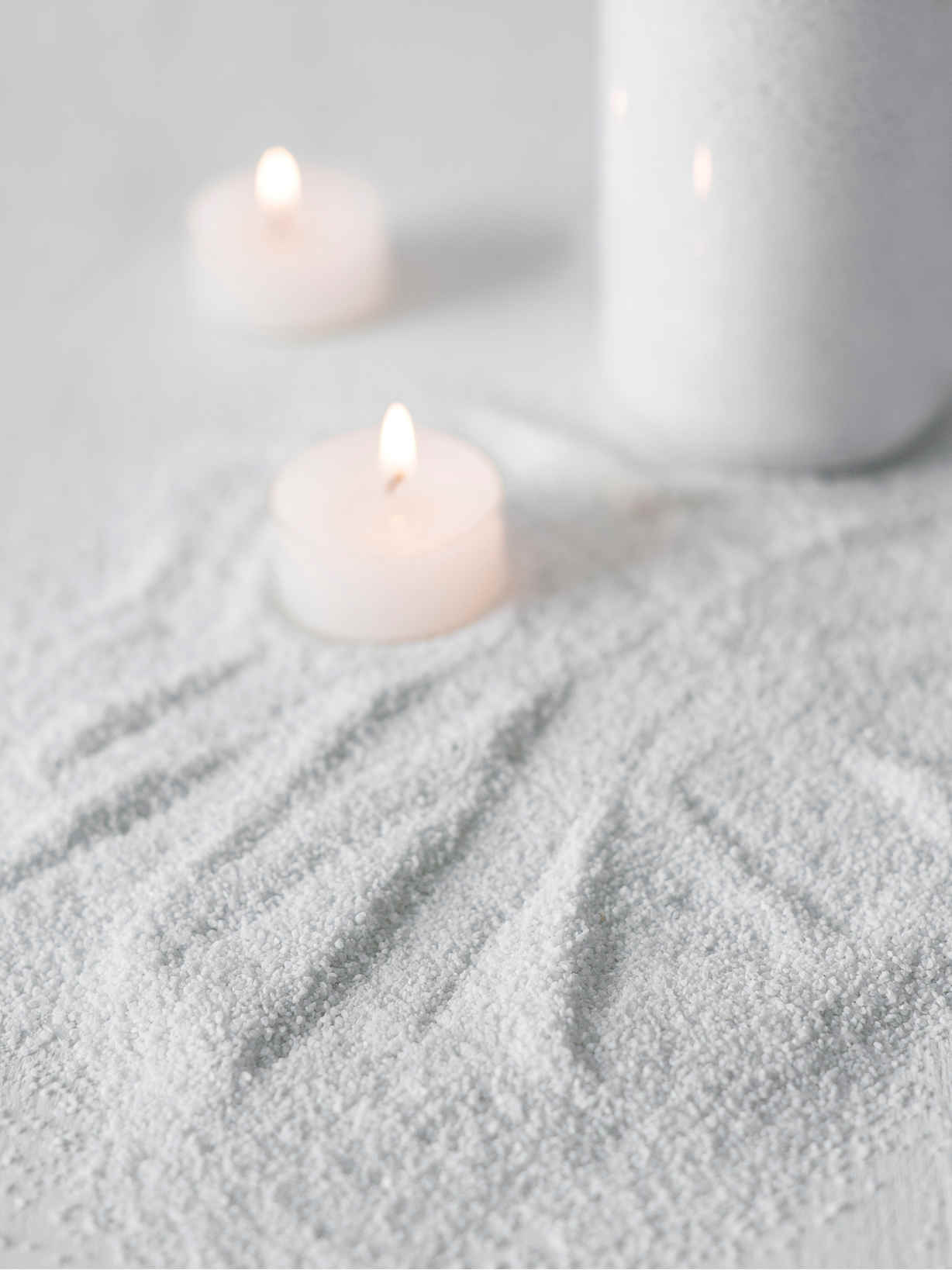 Nordic House White Candle Sand