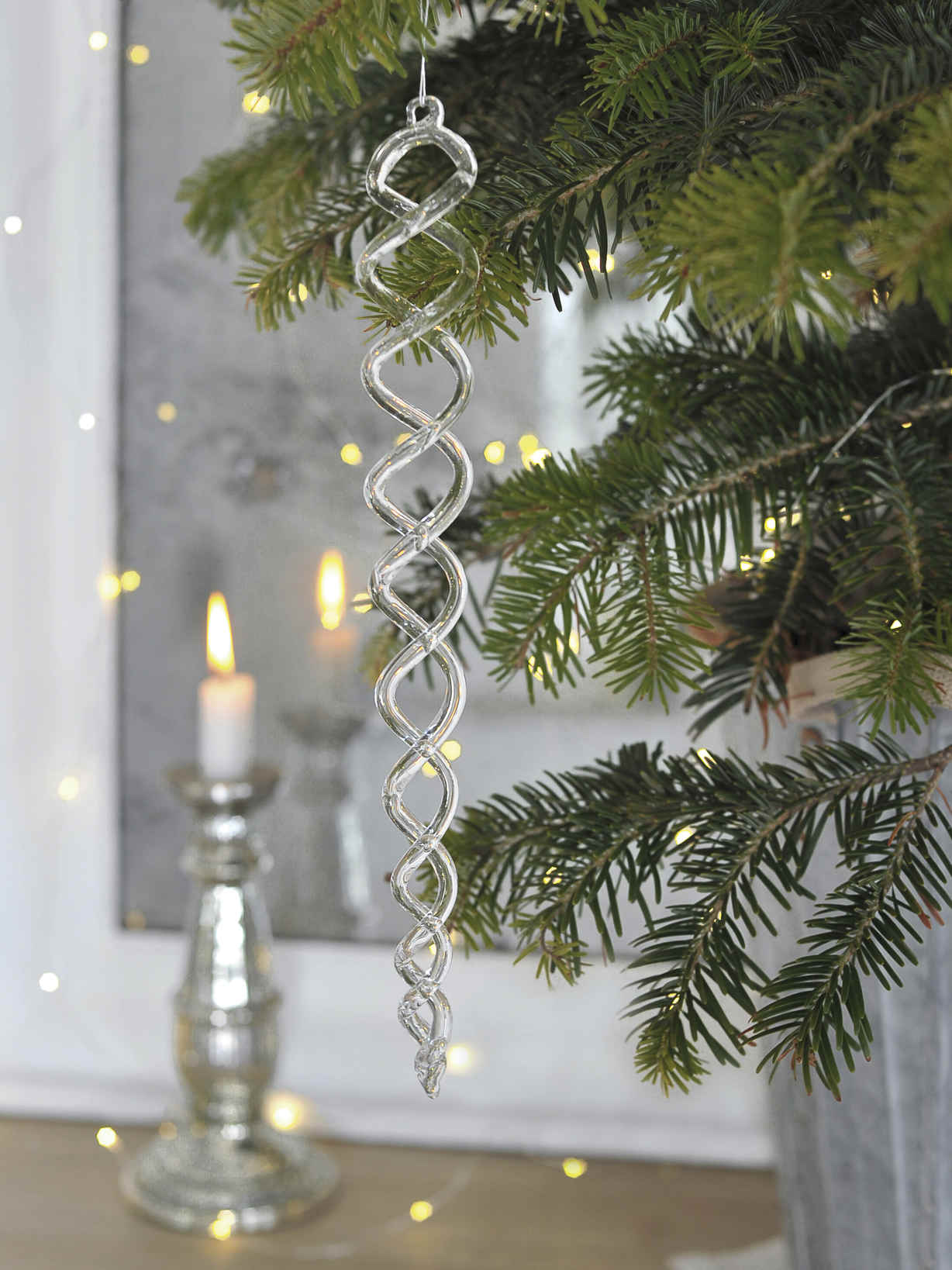 Nordic House Spiral Icicle Decoration - XL