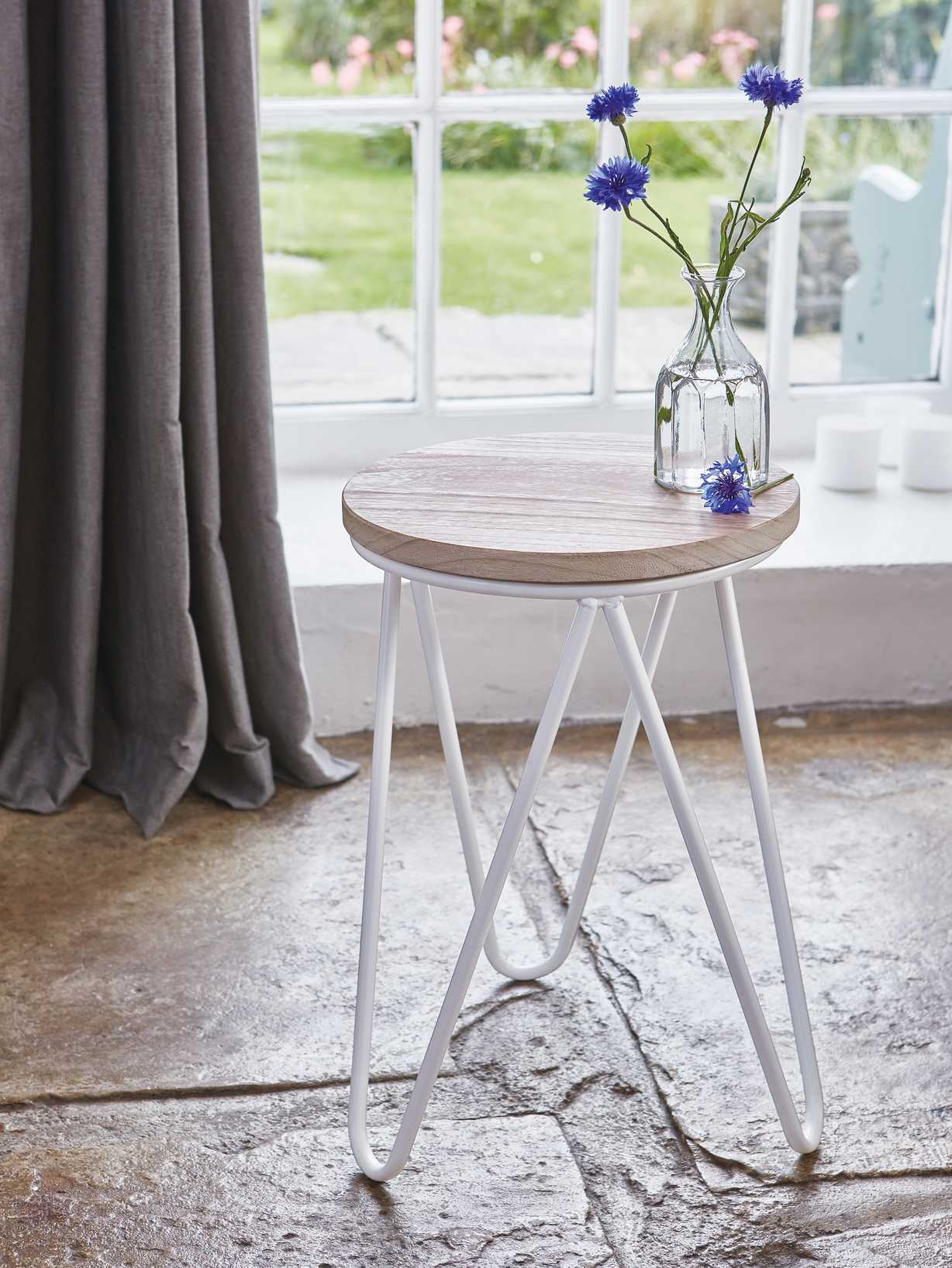 Nordic House Contemporary Stool - White