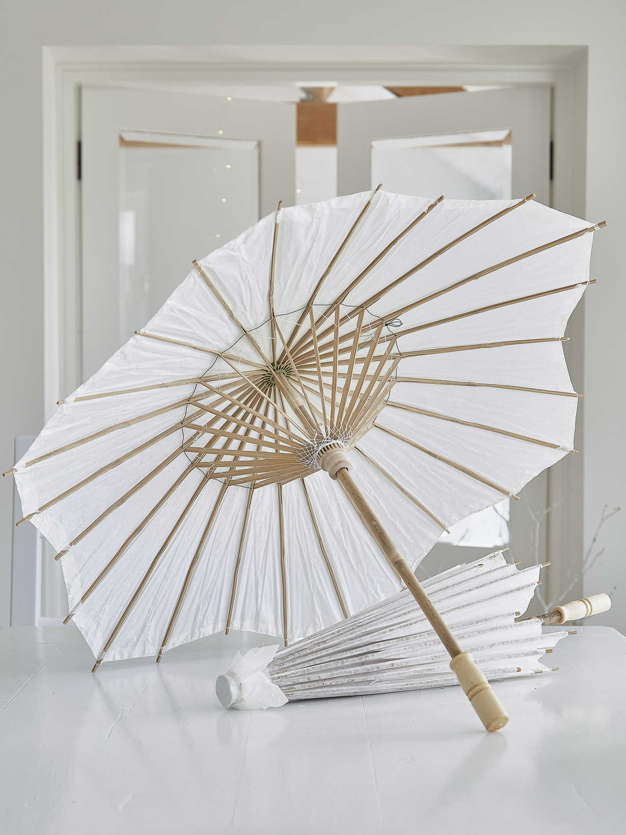Nordic House Decorative Bamboo and Paper Parasol
