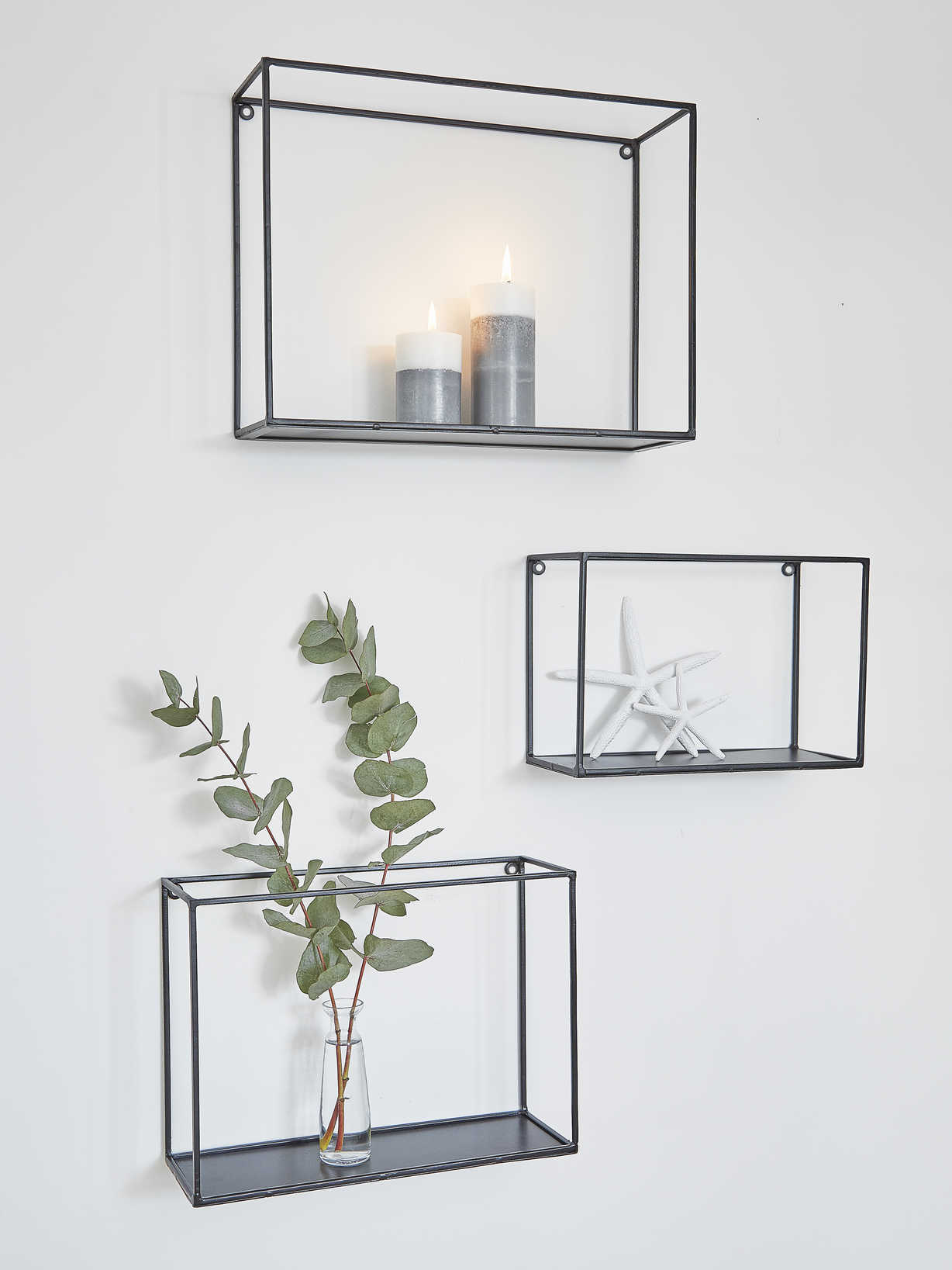 Nordic House Metal Wall Rack Set