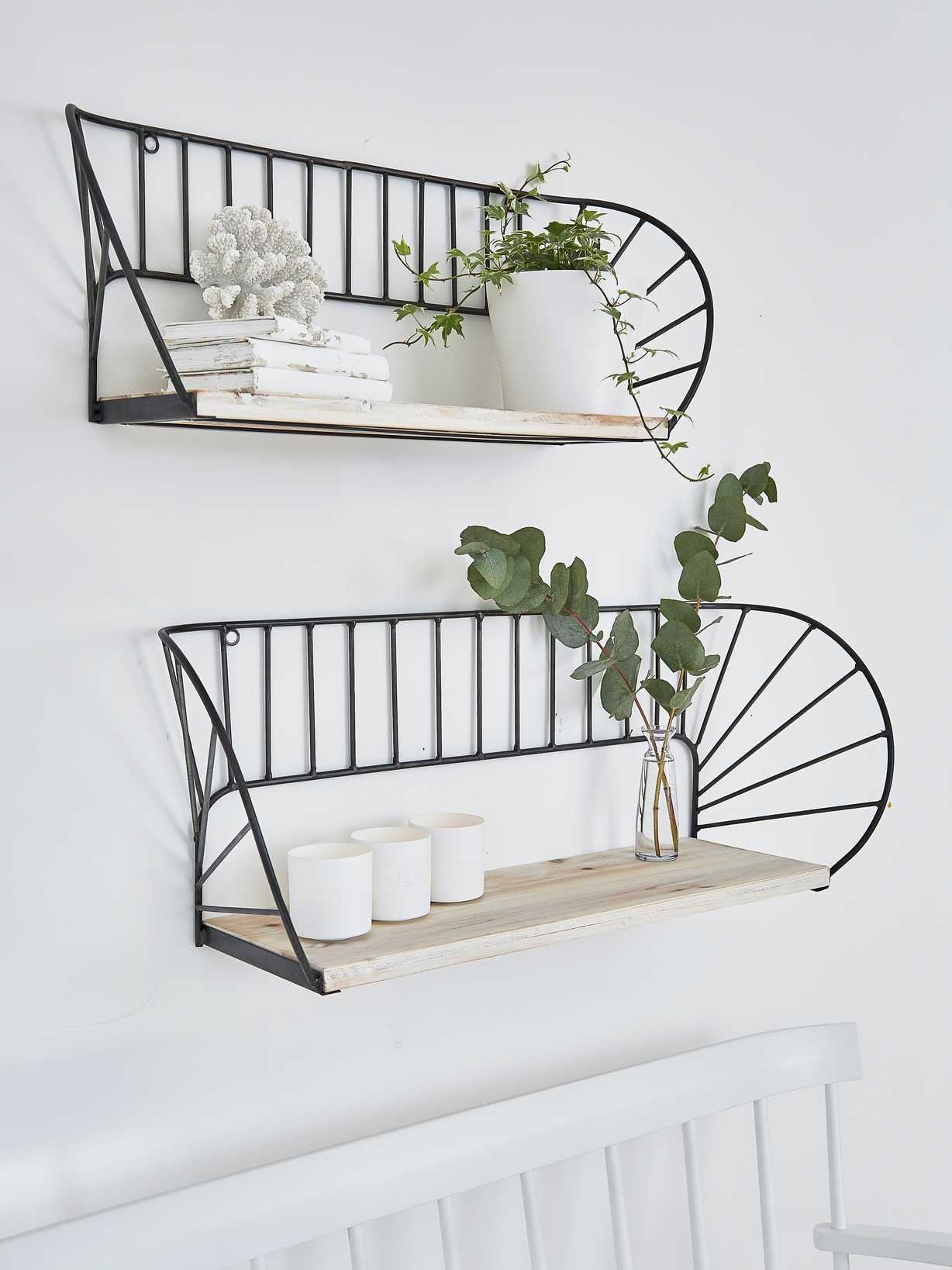 Nordic House Architectural Wall Shelf Set