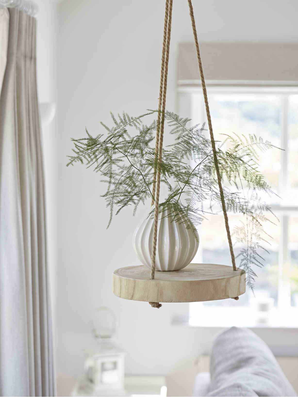 Nordic House Rustic Hanging Shelf