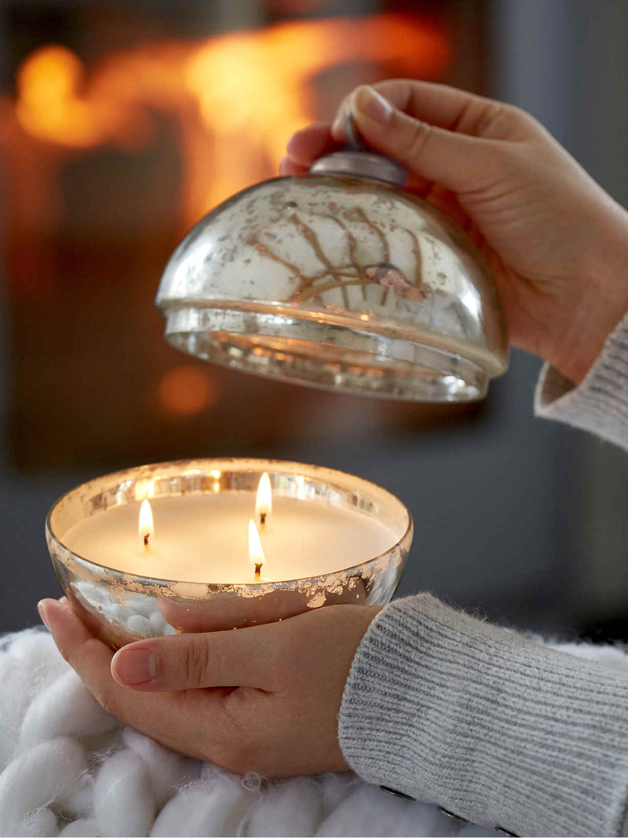 Nordic House Large Christmas Candle Bauble