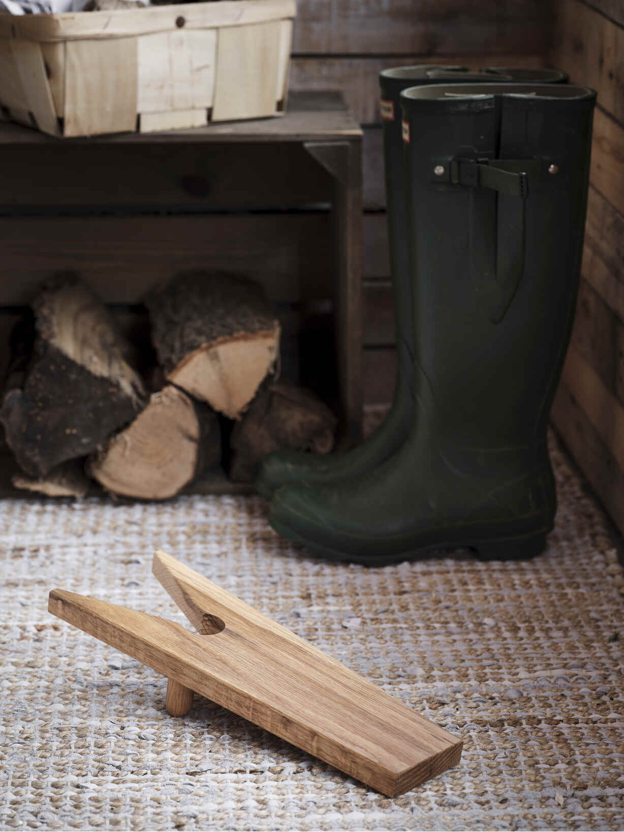 Nordic House Oak Boot Jack