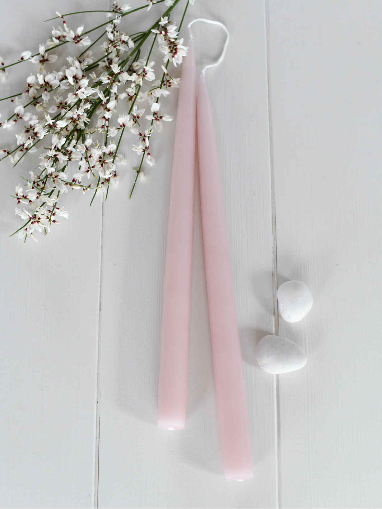 Nordic House Tapered Dinner Candle - Soft Pink