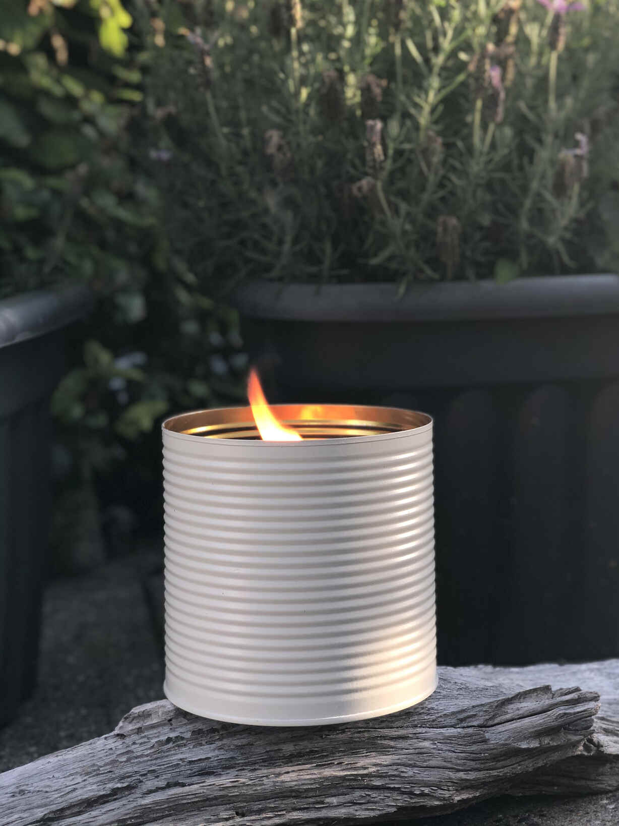 Nordic House White Outdoor Candle Pot