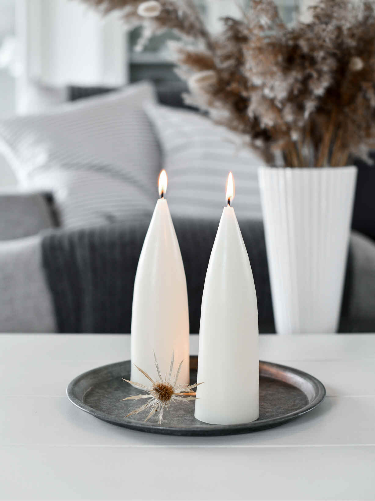 Nordic House Danish Cone Candle - Ivory