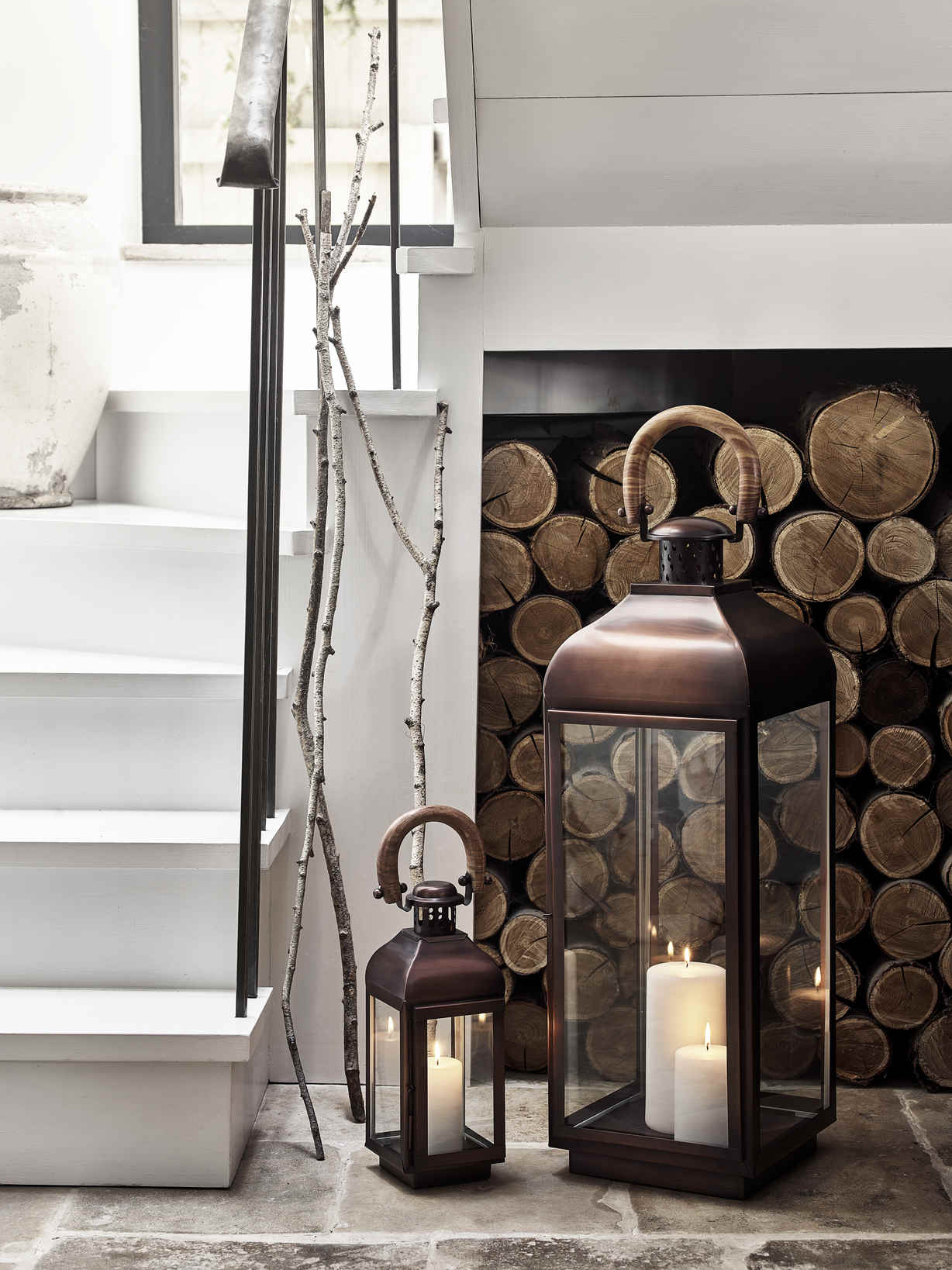 Nordic House Elite Aged Bronze Lanterns
