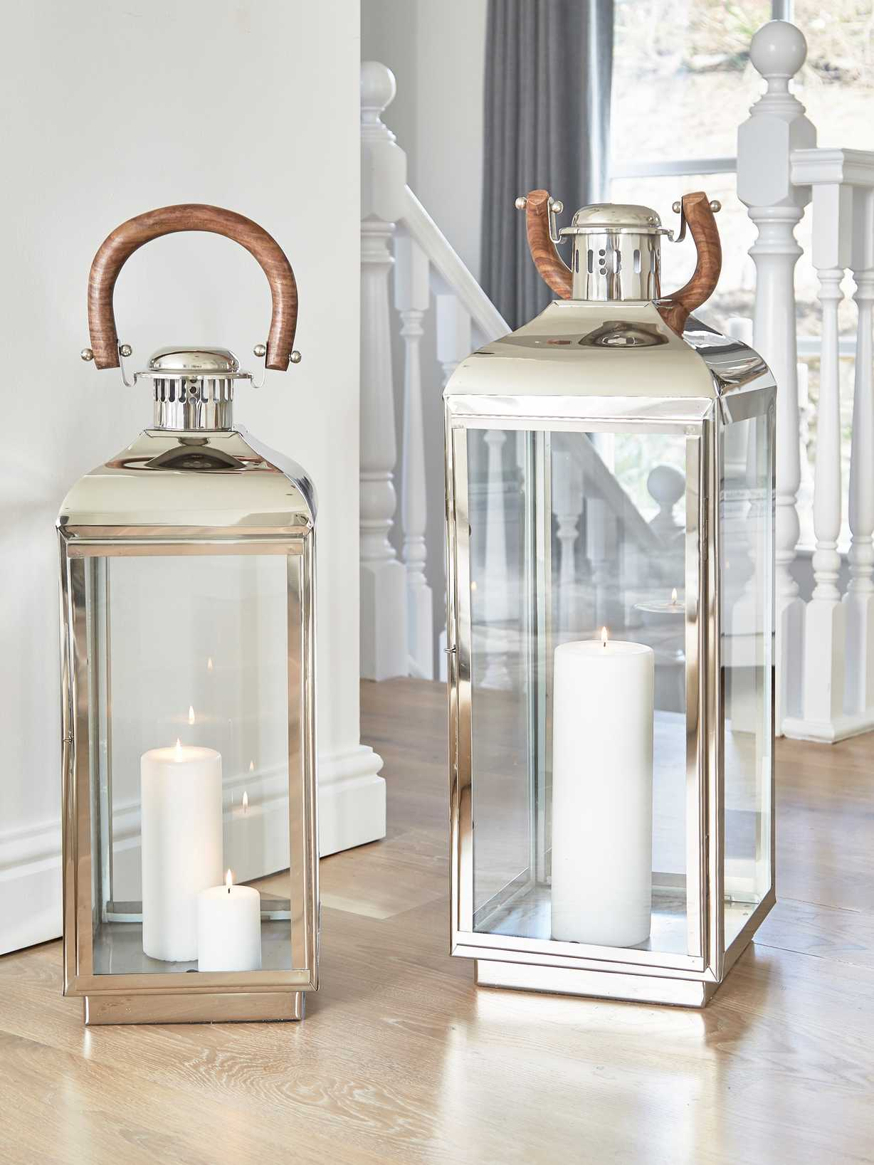 Nordic House Elite Stainless Steel Lanterns