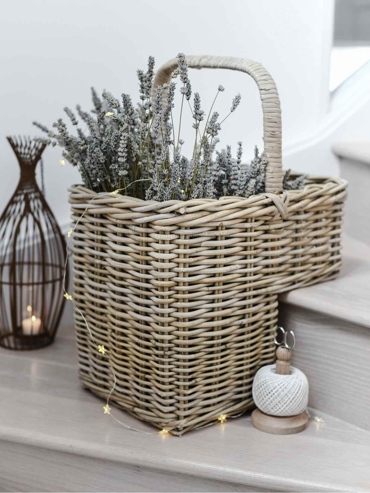 Nordic House Stair Basket with Hoop Handle