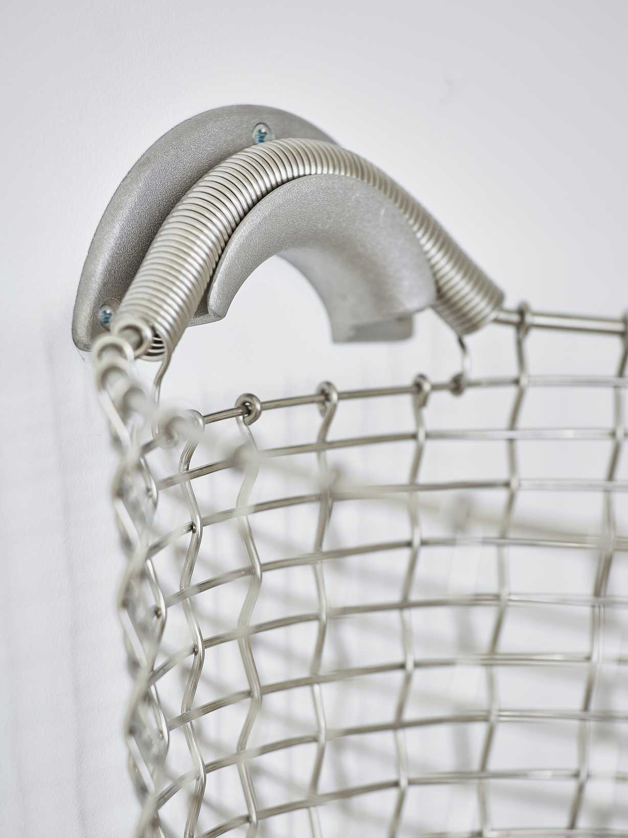 Nordic House Heirloom Basket Hanger - Silver Grey