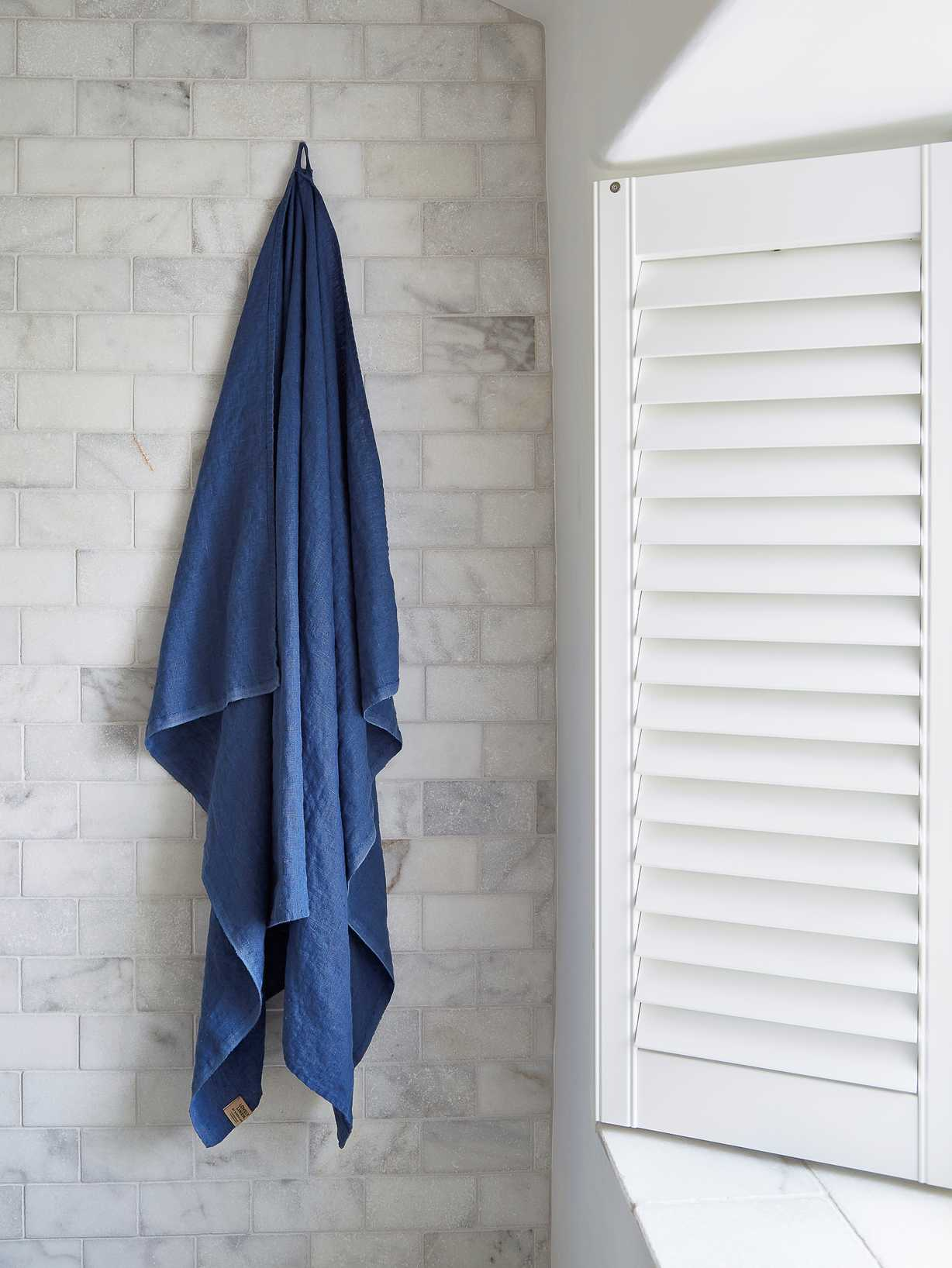 Nordic House Pure Linen Hammam Towel - Denim Blue