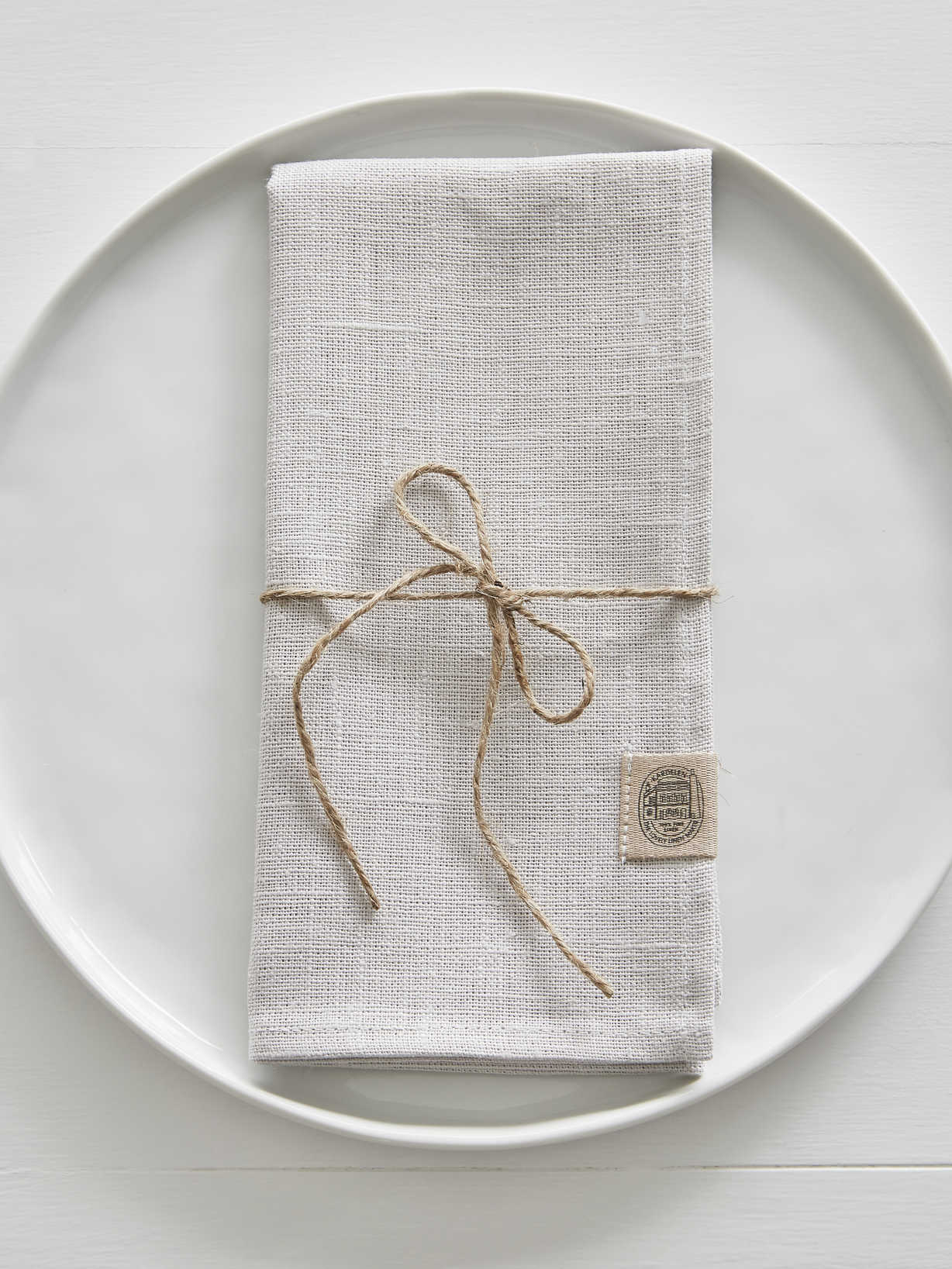 Nordic House Light Grey Linen Napkins - Set of 2