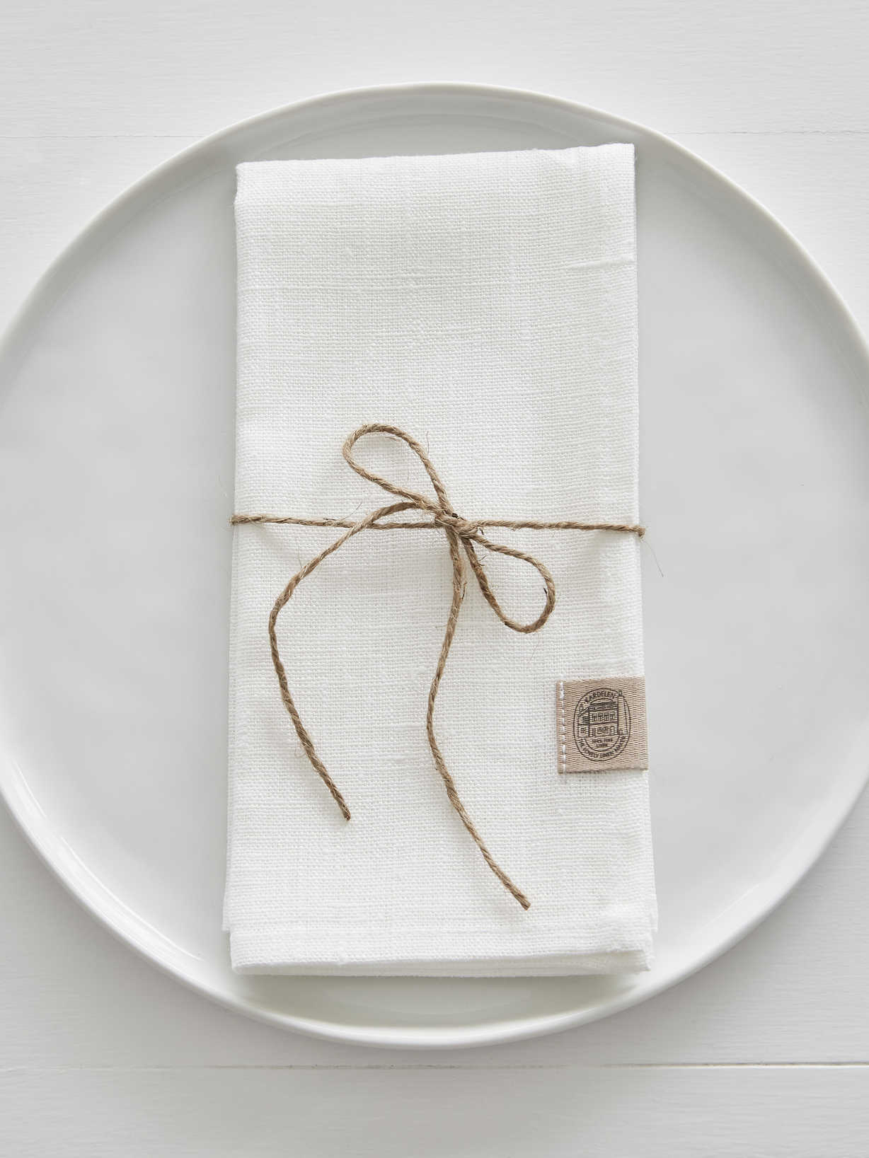 Nordic House Ivory Linen Napkins - Set of 2