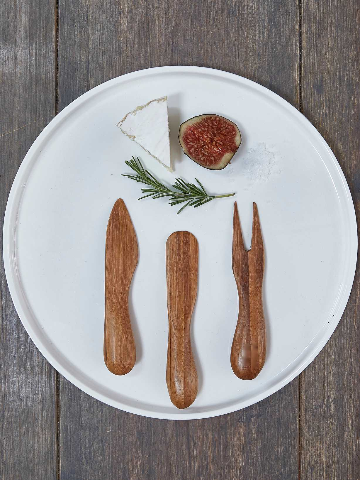 Nordic House Bamboo Cheese Utensil Set
