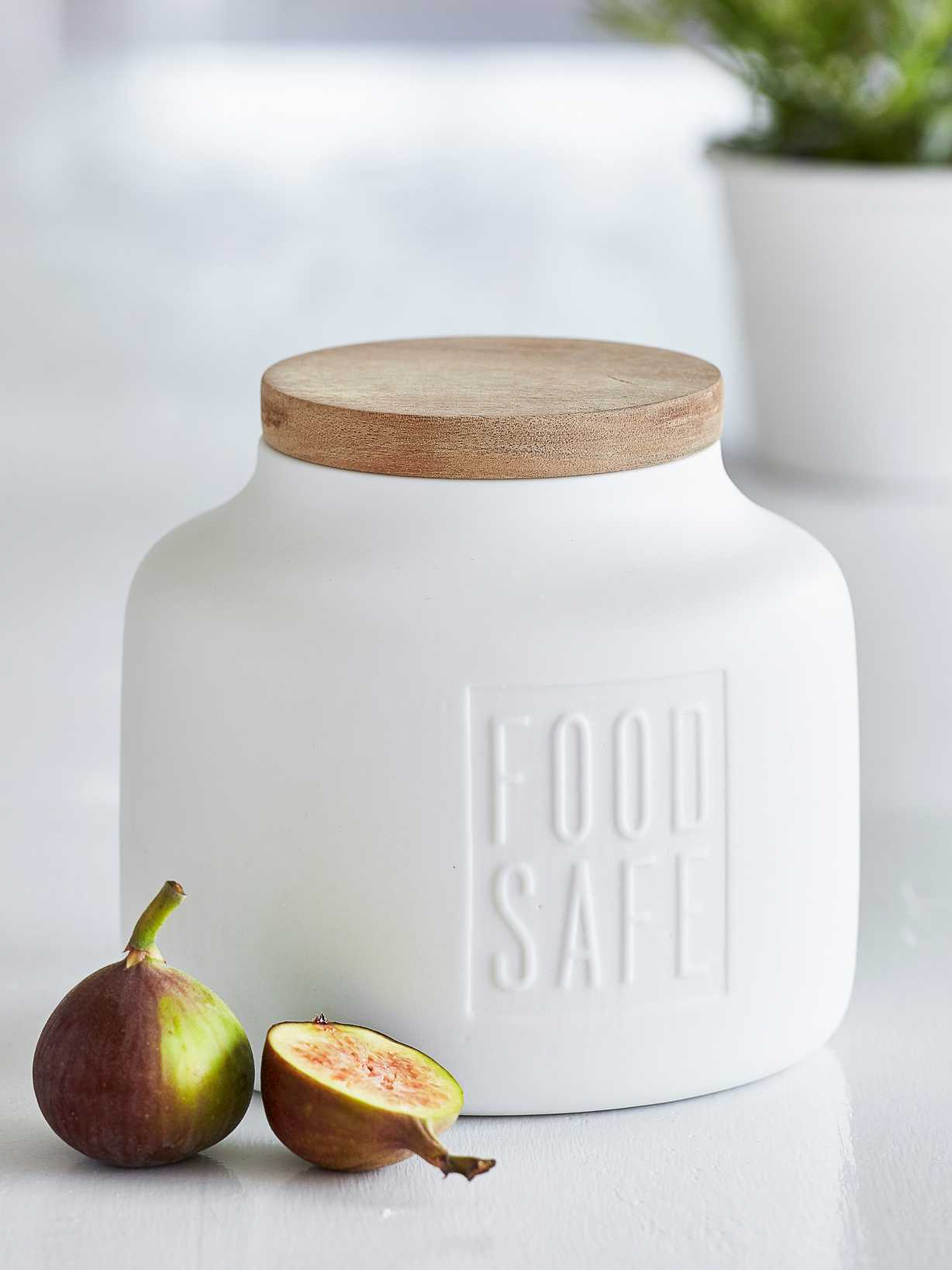Nordic House Elegant White Storage Jar