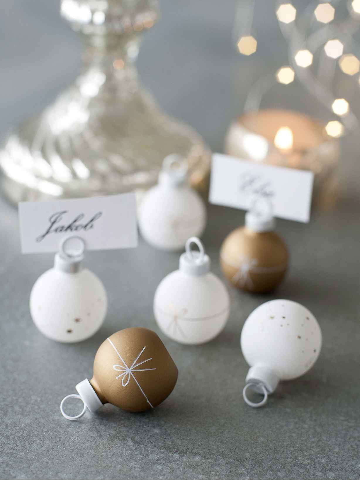 Nordic House Bauble Name Place Holders