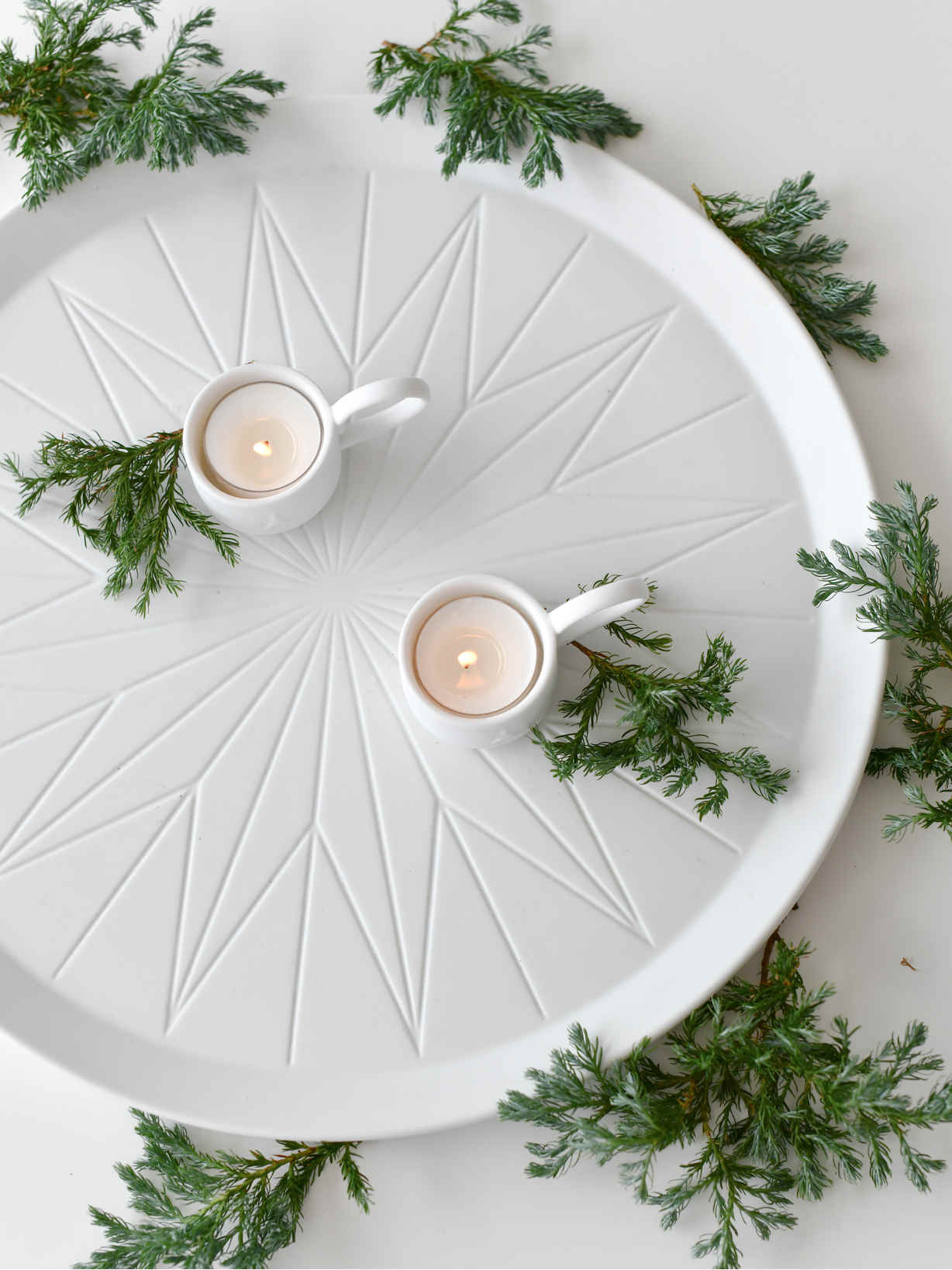 Nordic House Porcelain Centrepiece Tray