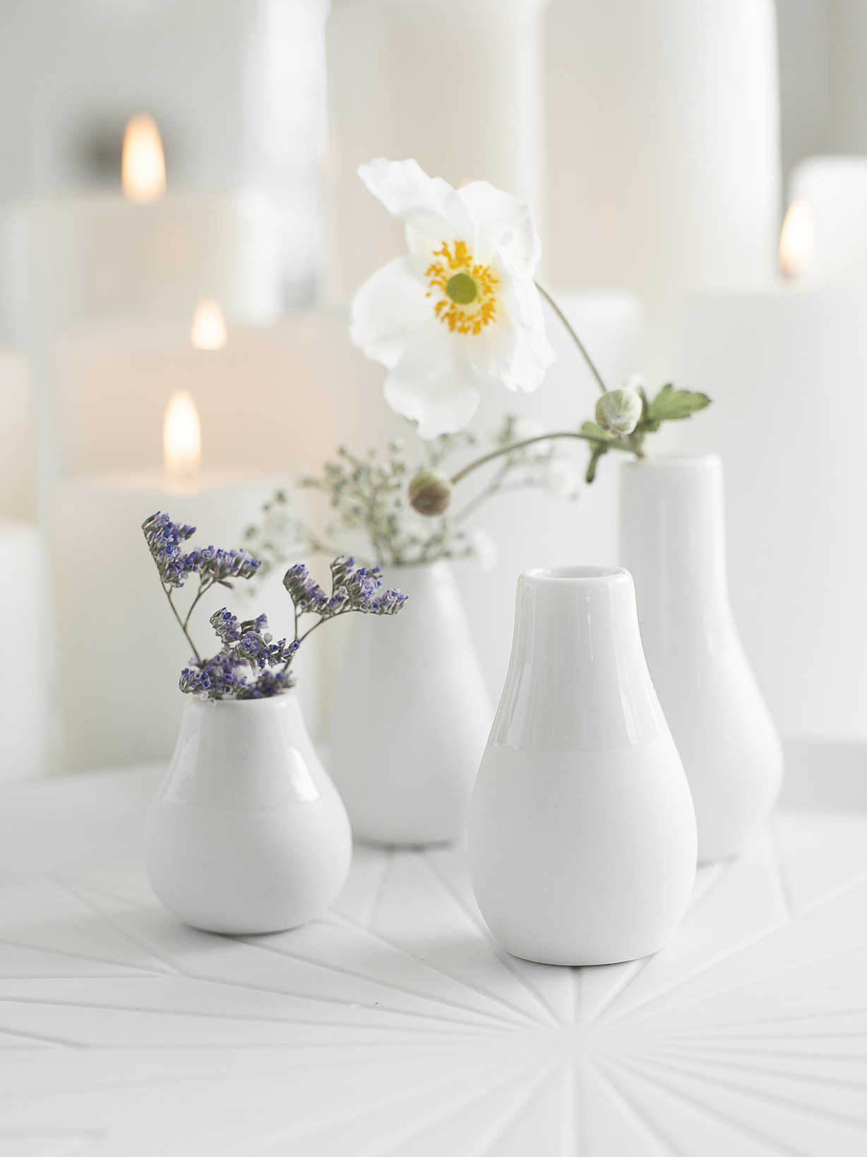 Nordic House Mini Porcelain Vase Set