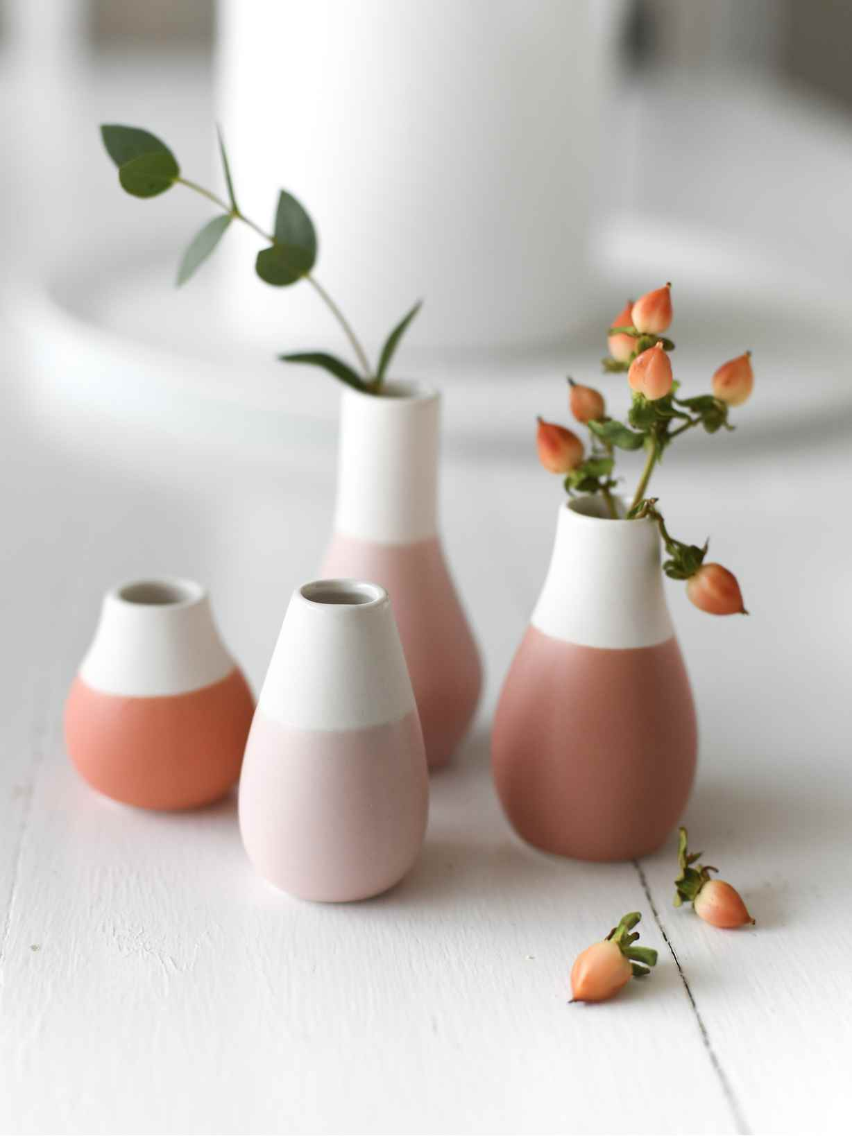 Nordic House Mini Pastel Vase Set