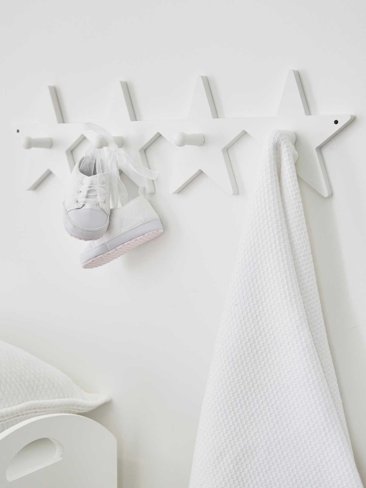 Nordic House Star Coat Rack - White