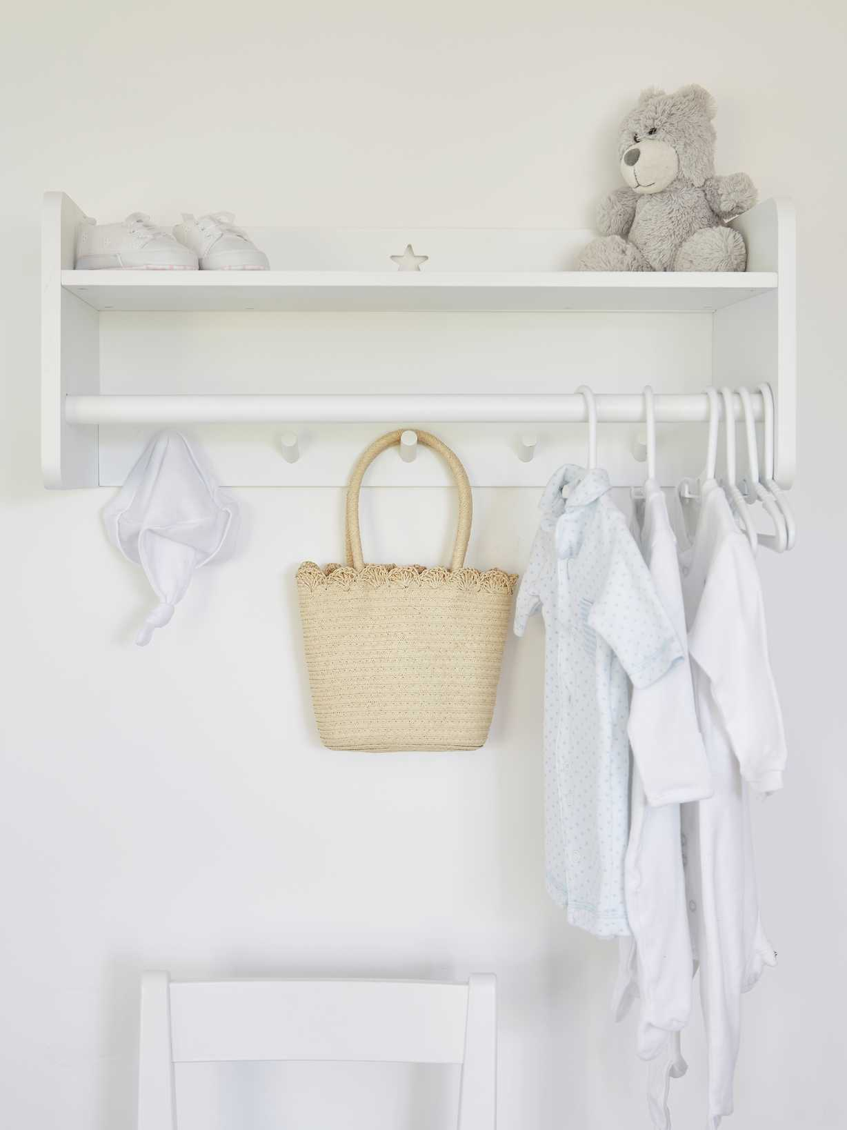 Nordic House Star Clothes Rack with Shelf