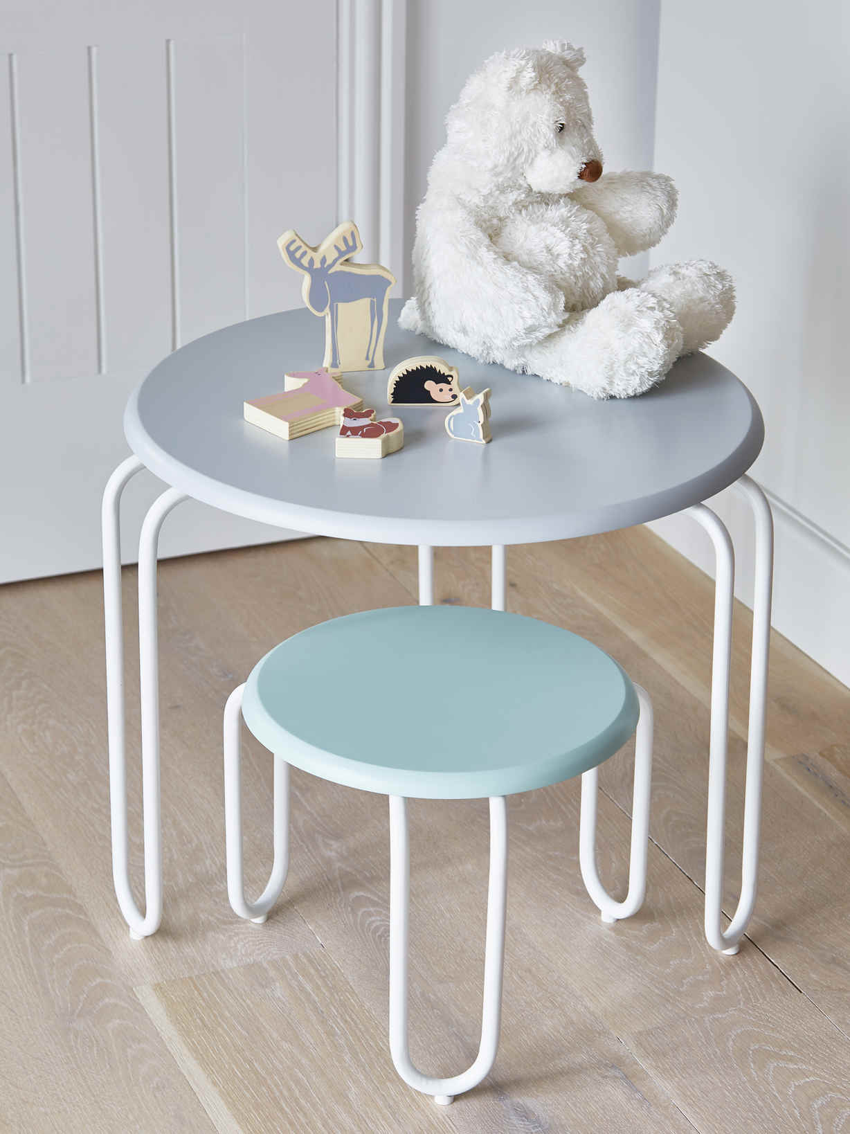 Nordic House Nordic Kids Hairpin Table - Grey